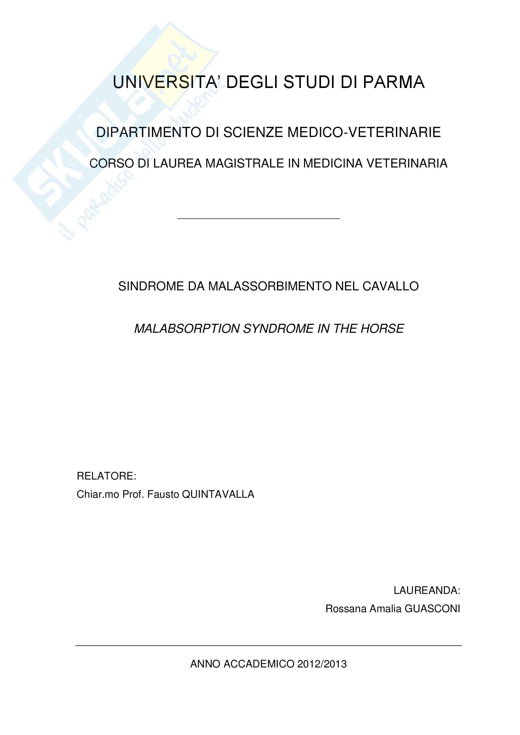 tesi F. Quintavalla Clinica medica