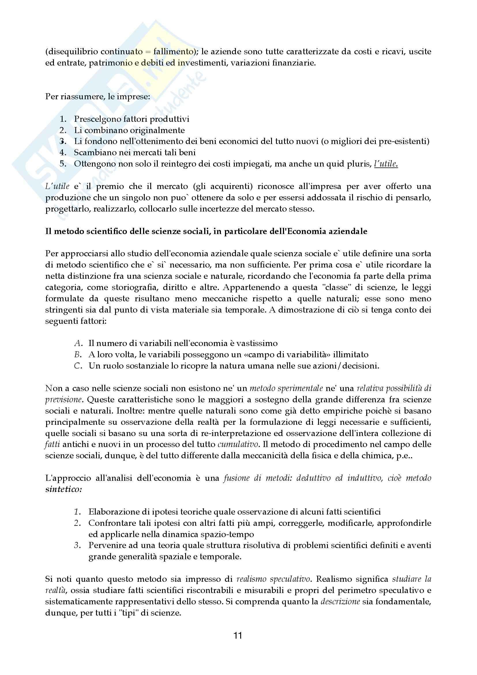 Riassunto esame Economia aziendale, prof. Canziani, libro consigliato Lezioni di Economia Aziendale Pag. 11