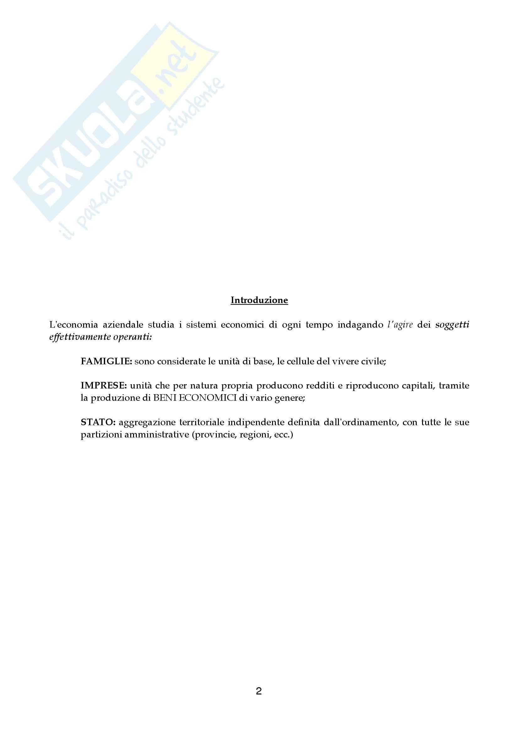Riassunto esame Economia aziendale, prof. Canziani, libro consigliato Lezioni di Economia Aziendale Pag. 2