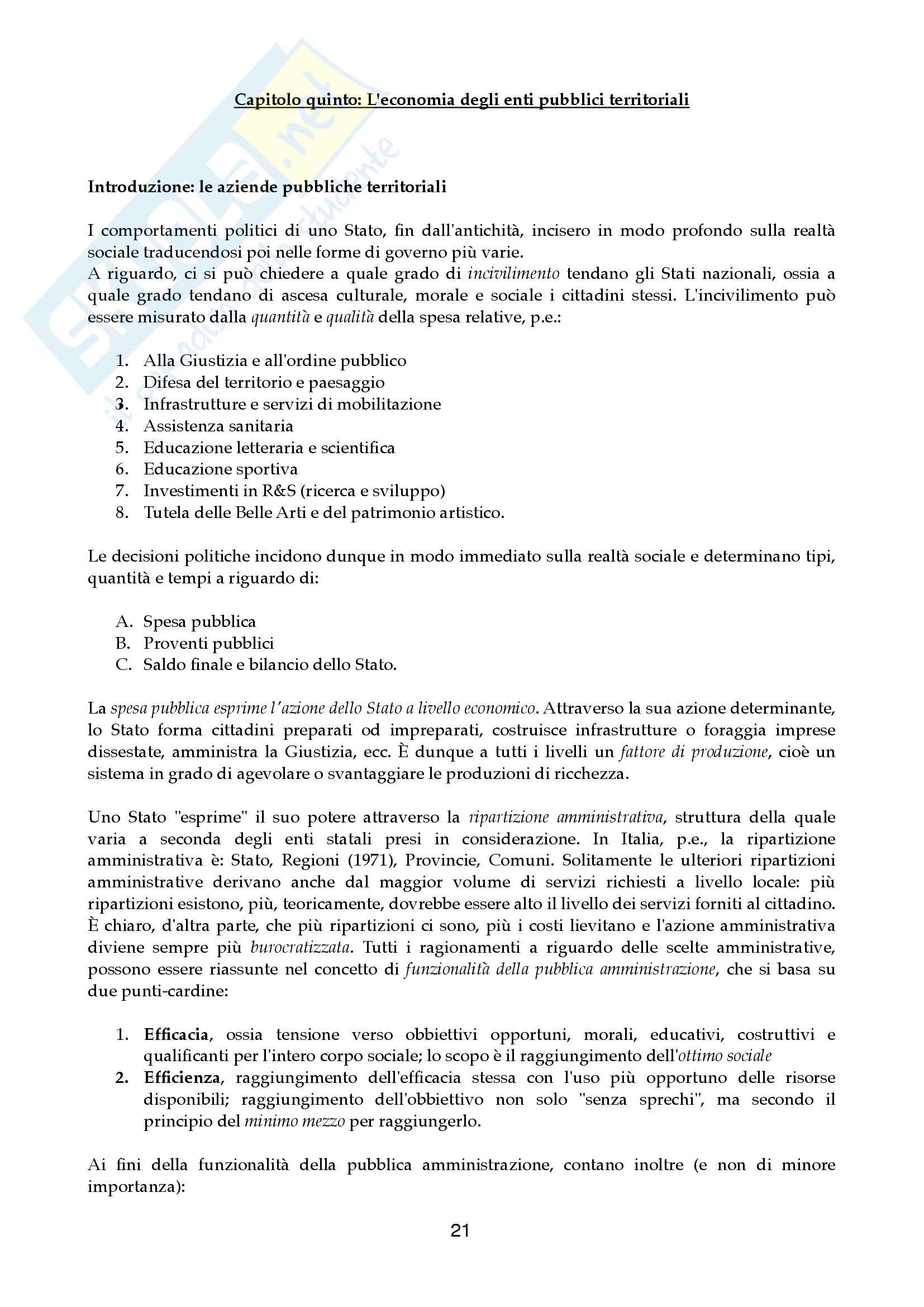 Riassunto esame Economia aziendale, prof. Canziani, libro consigliato Lezioni di Economia Aziendale Pag. 21