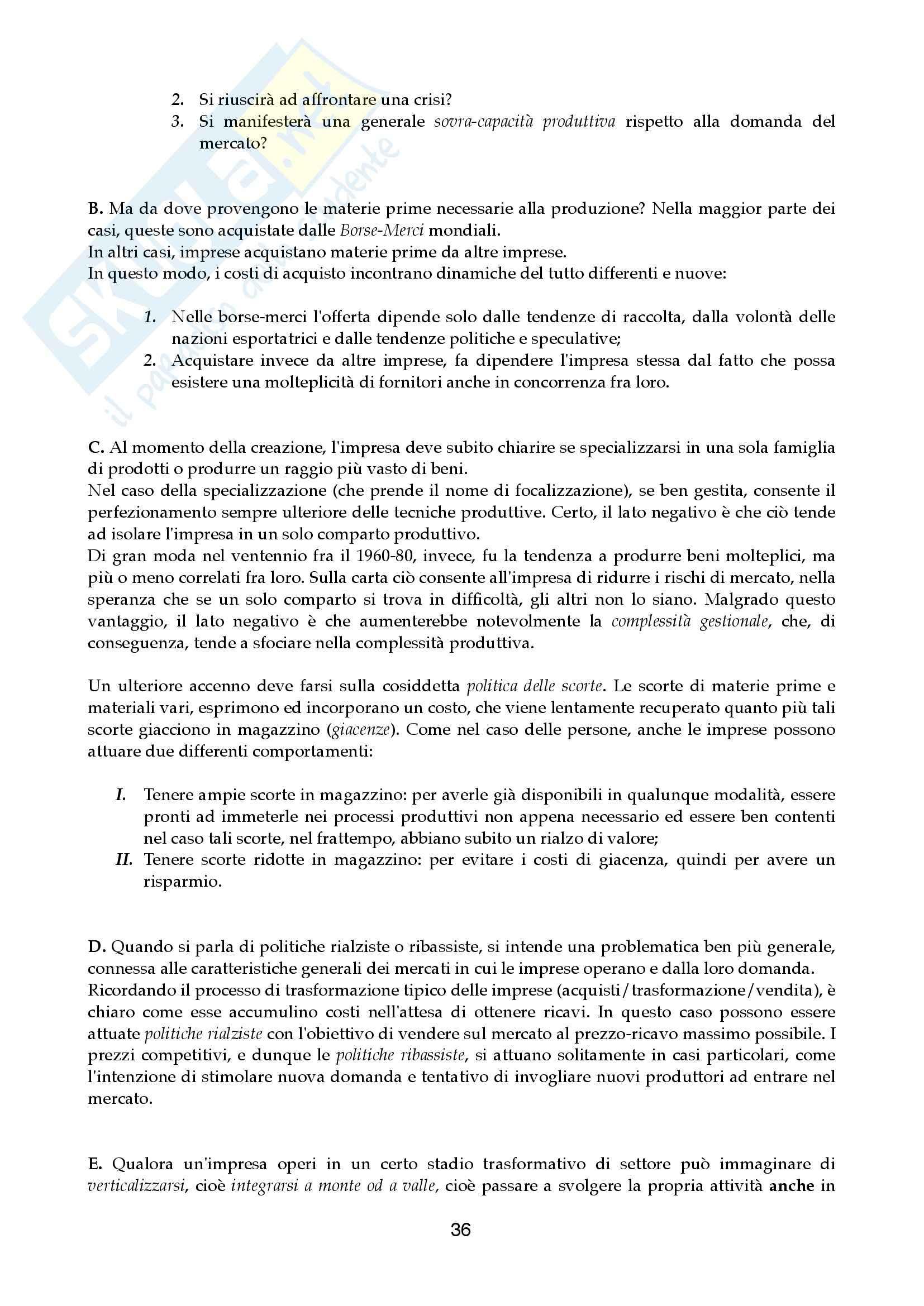 Riassunto esame Economia aziendale, prof. Canziani, libro consigliato Lezioni di Economia Aziendale Pag. 36
