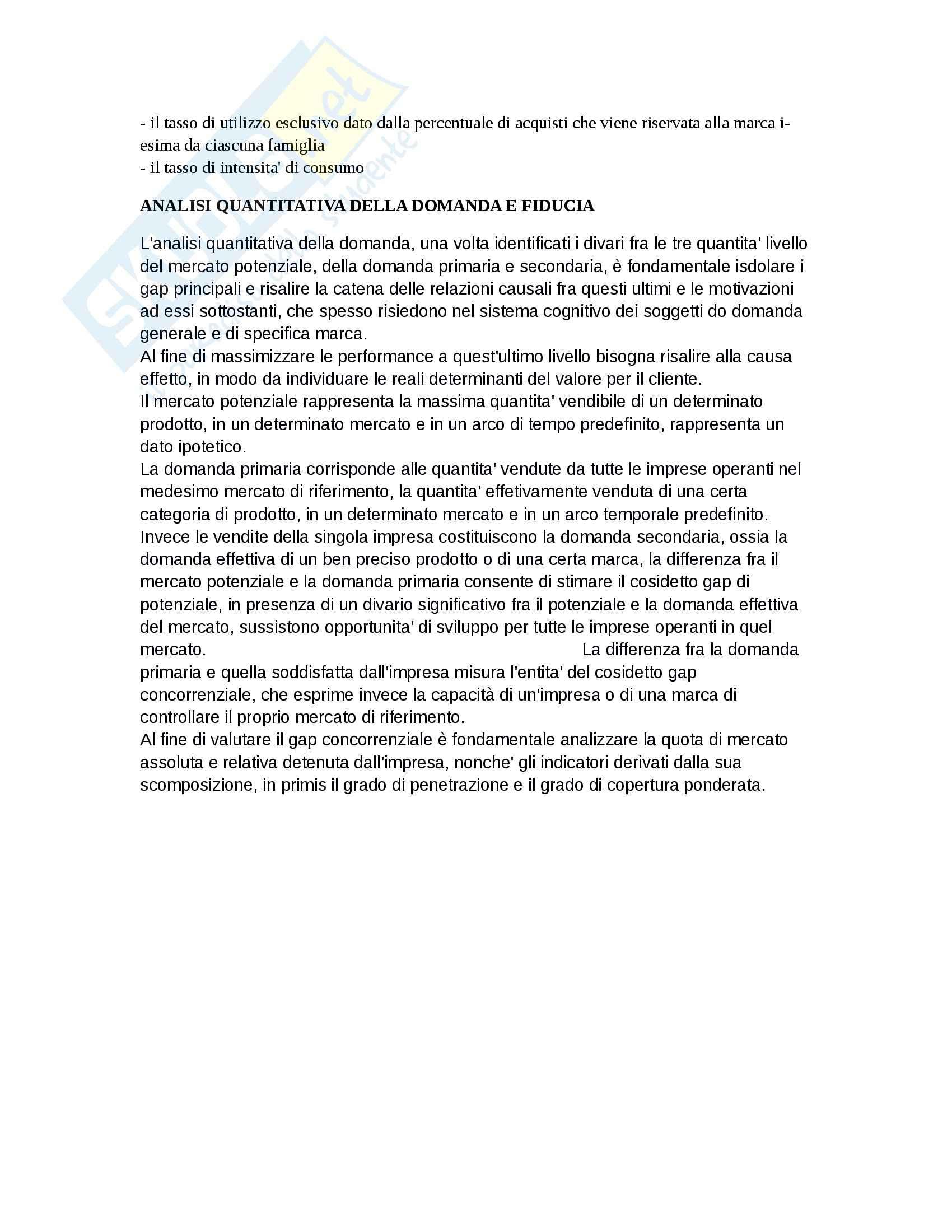 Riassunto esame Marketing, prof. D'Amico, libro consigliato Marketing e fiducia, Castaldo Pag. 11