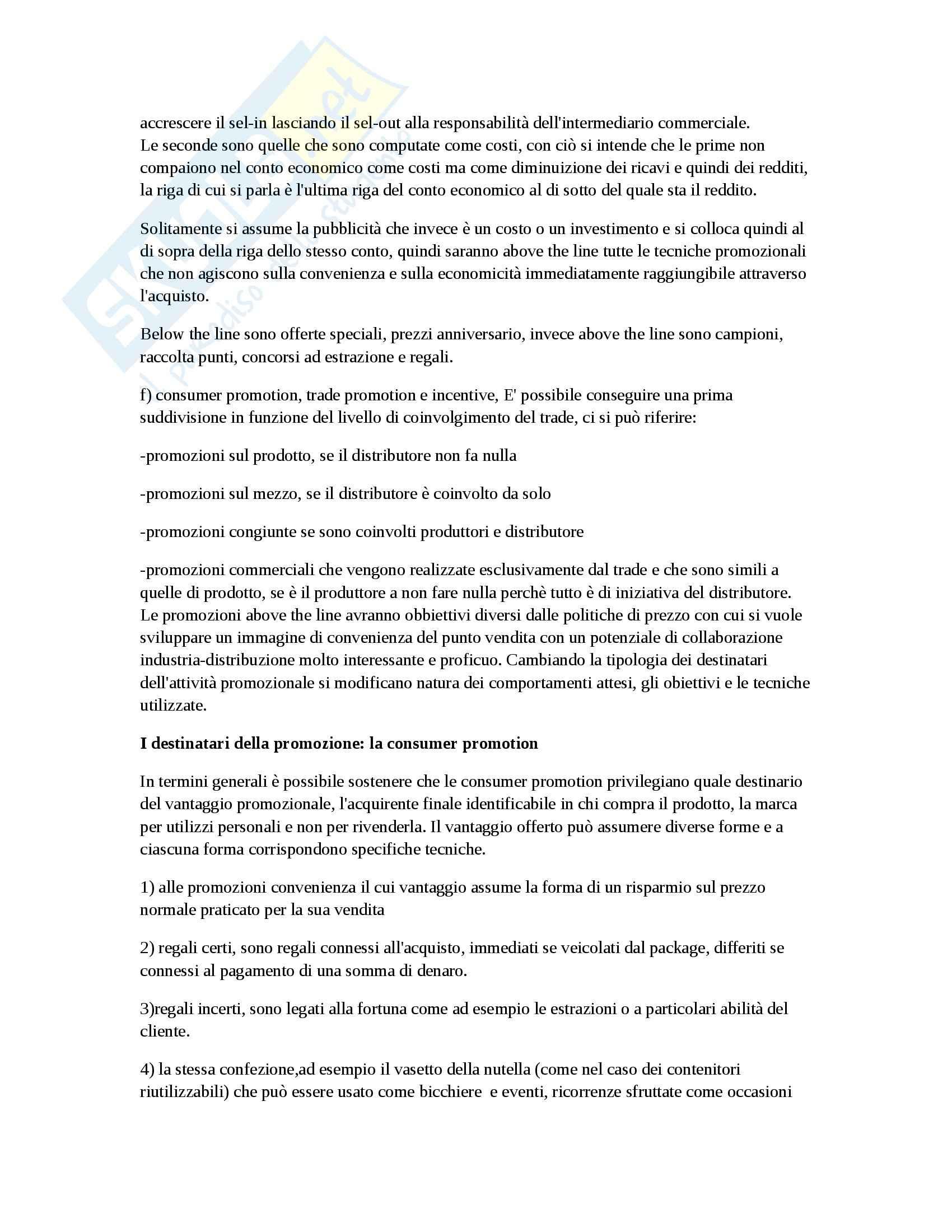 Riassunto esame Marketing, prof. D'Amico, libro consigliato Marketing e fiducia, Castaldo Pag. 31