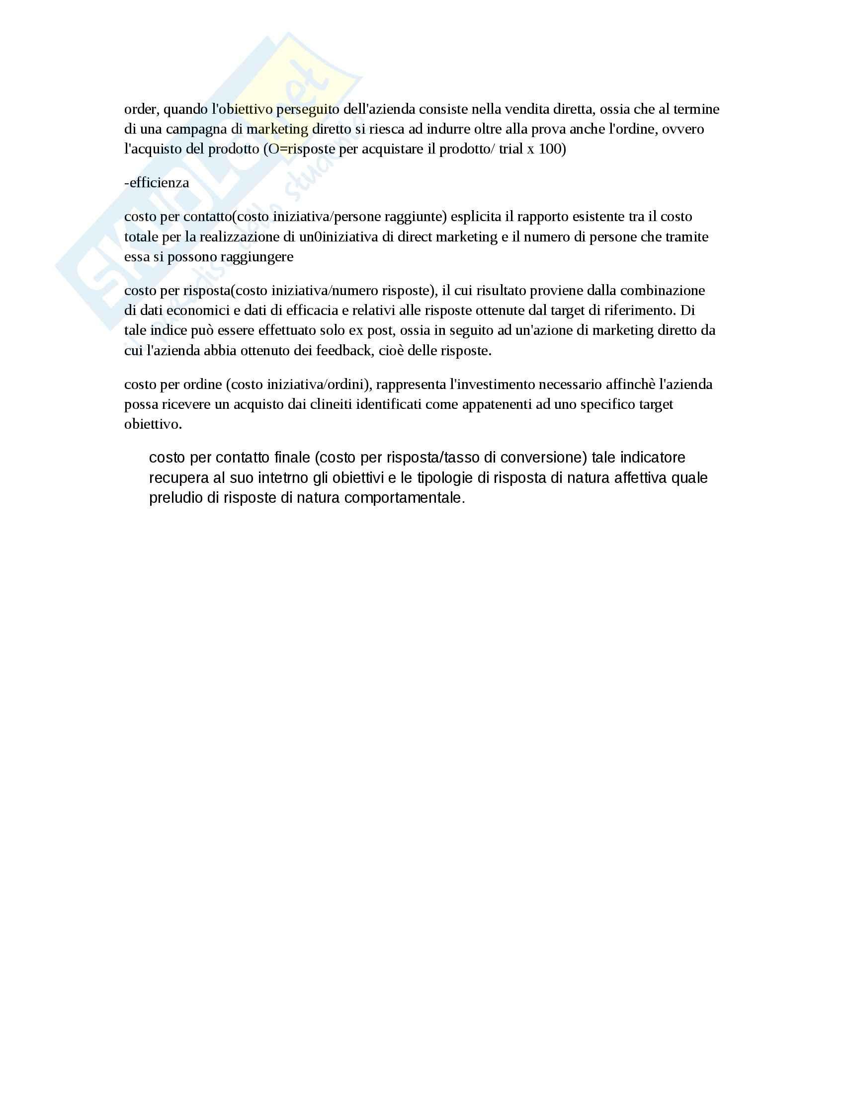 Riassunto esame Marketing, prof. D'Amico, libro consigliato Marketing e fiducia, Castaldo Pag. 36