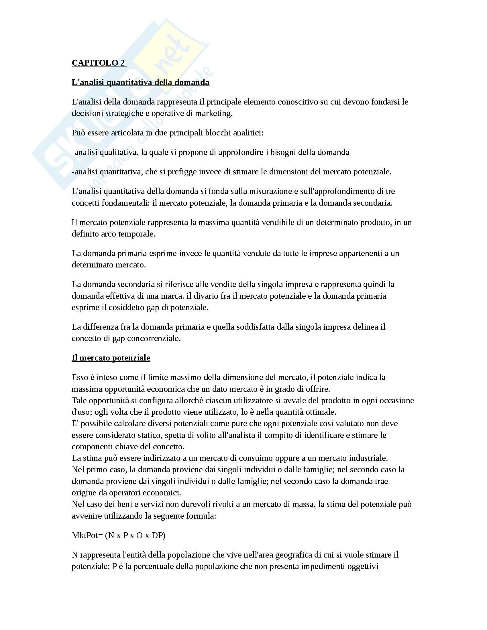 Riassunto esame Marketing, prof. D'Amico, libro consigliato Marketing e fiducia, Castaldo Pag. 6