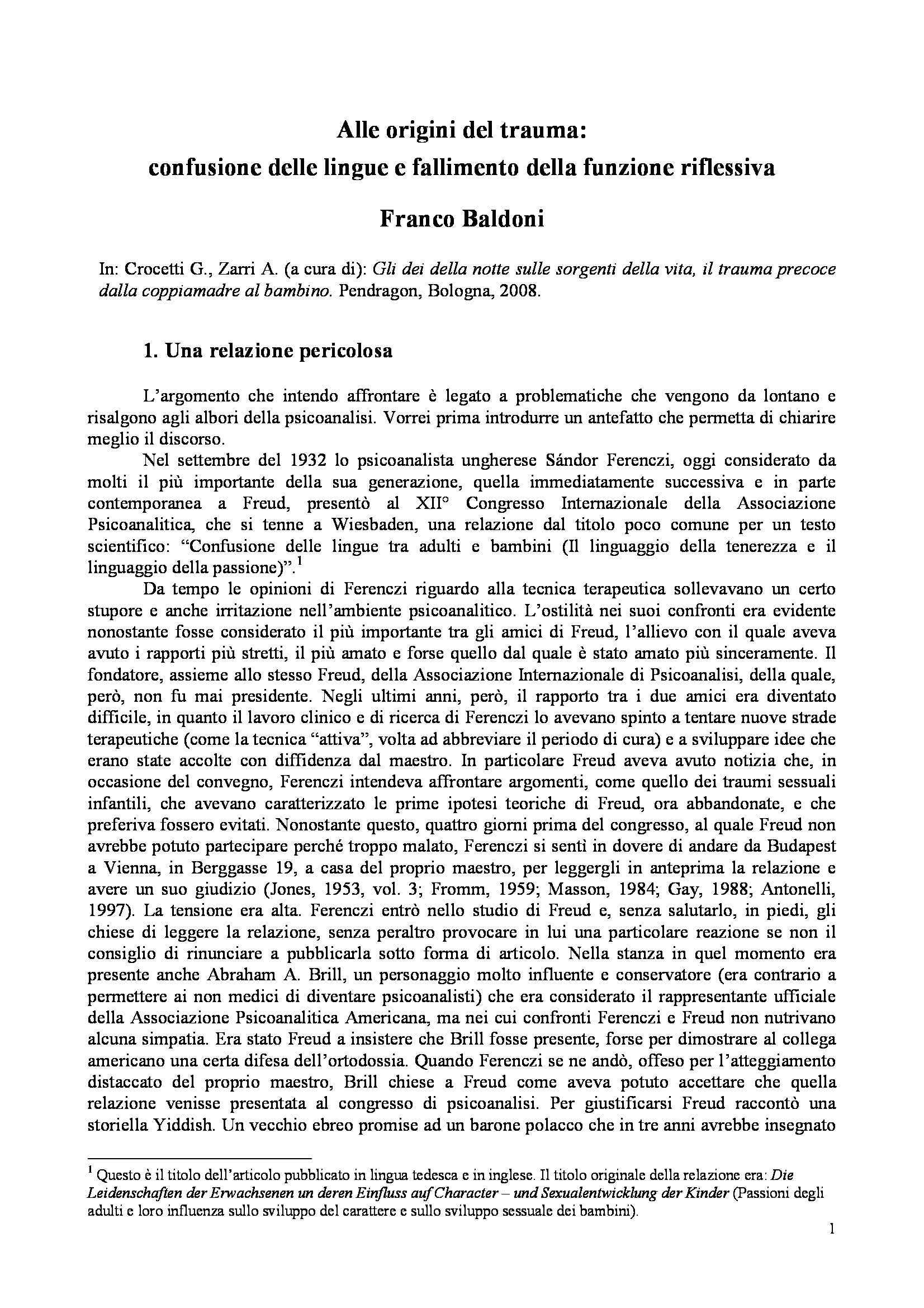 dispensa F. Baldoni METODOLOGIA CLINICA I