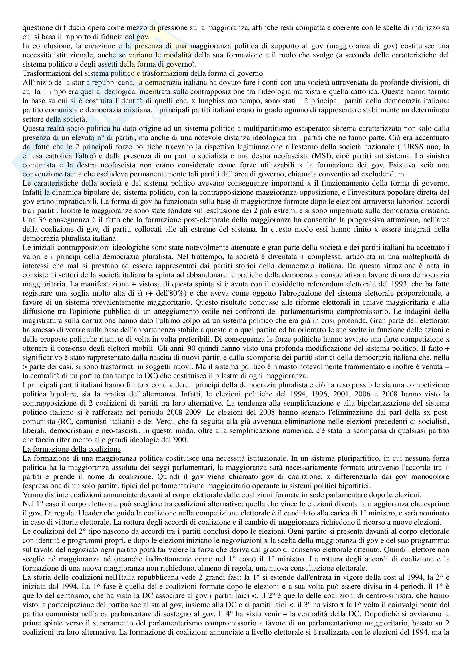 Riassunto esame Diritto pubblico, prof. Strazzari, libro consigliato Diritto pubblico Bin, Pitruzzella, Giappichelli Pag. 16