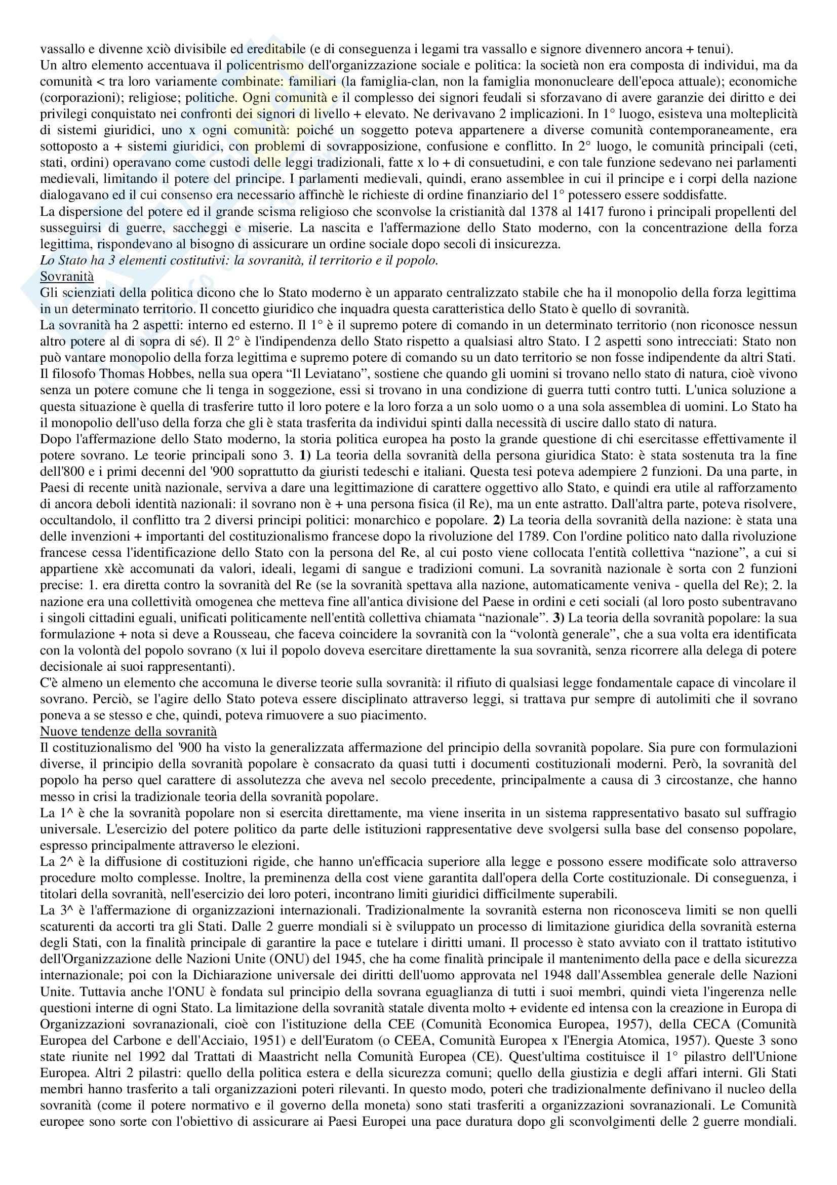 Riassunto esame Diritto pubblico, prof. Strazzari, libro consigliato Diritto pubblico Bin, Pitruzzella, Giappichelli Pag. 2