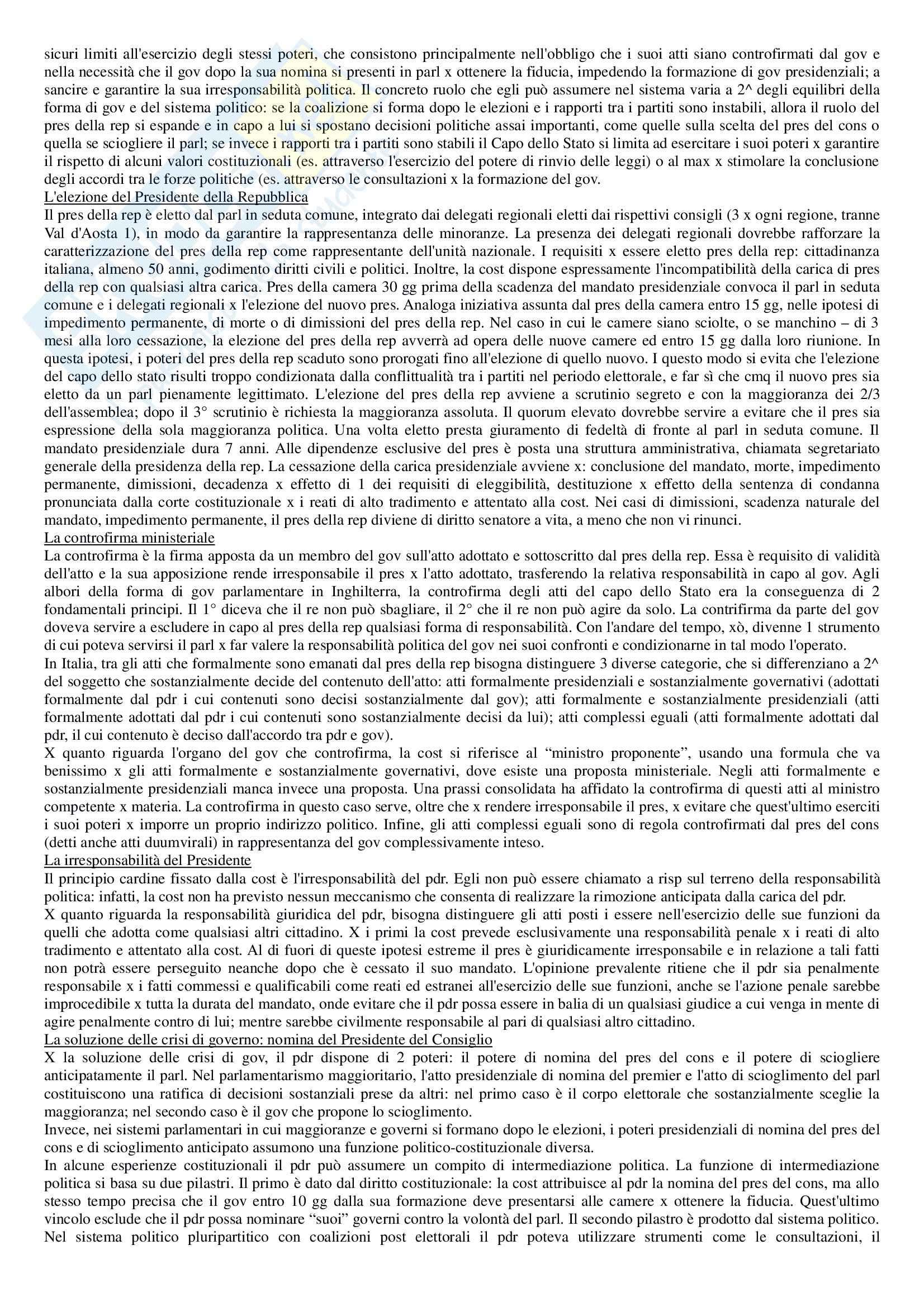 Riassunto esame Diritto pubblico, prof. Strazzari, libro consigliato Diritto pubblico Bin, Pitruzzella, Giappichelli Pag. 21