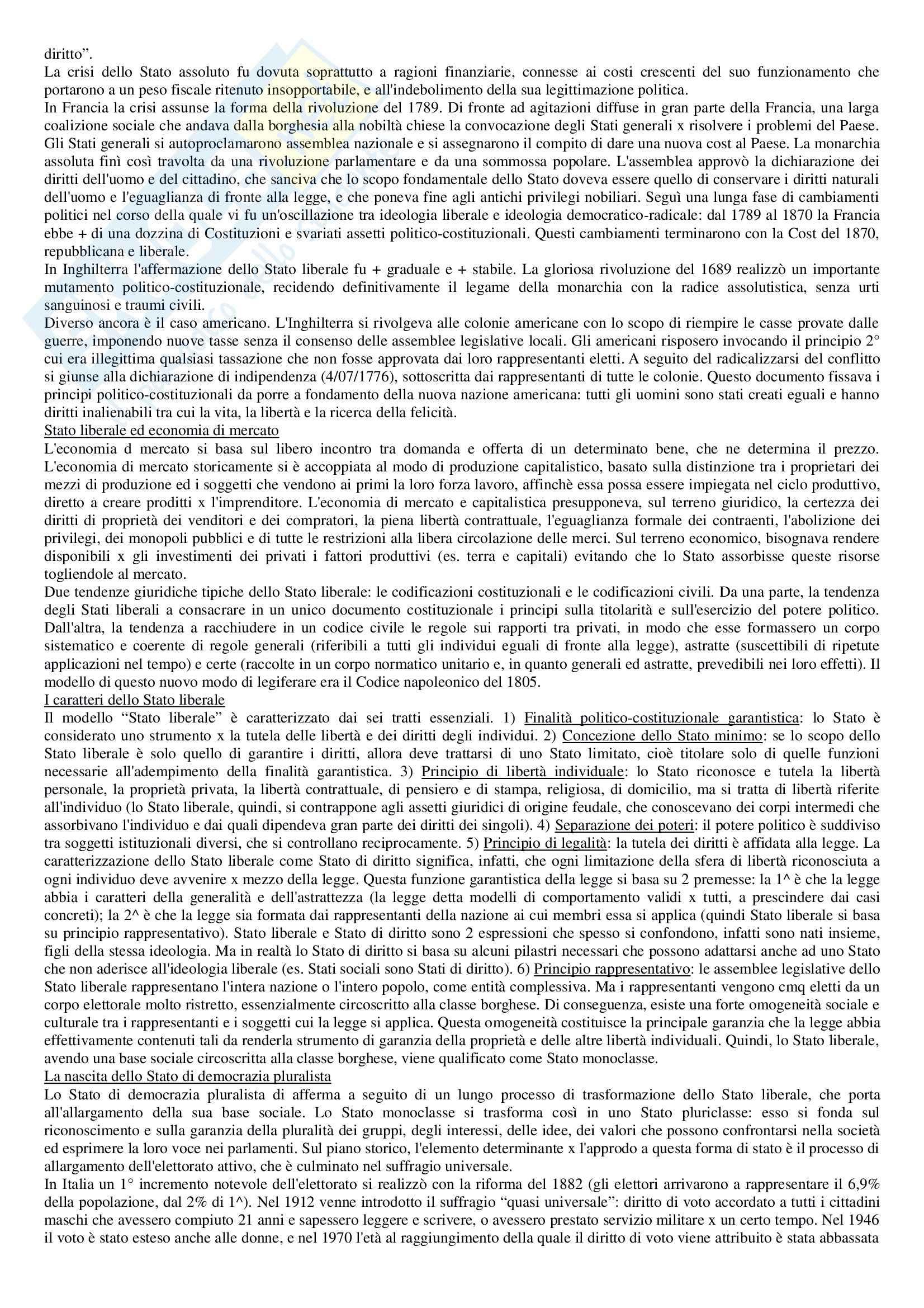 Riassunto esame Diritto pubblico, prof. Strazzari, libro consigliato Diritto pubblico Bin, Pitruzzella, Giappichelli Pag. 6