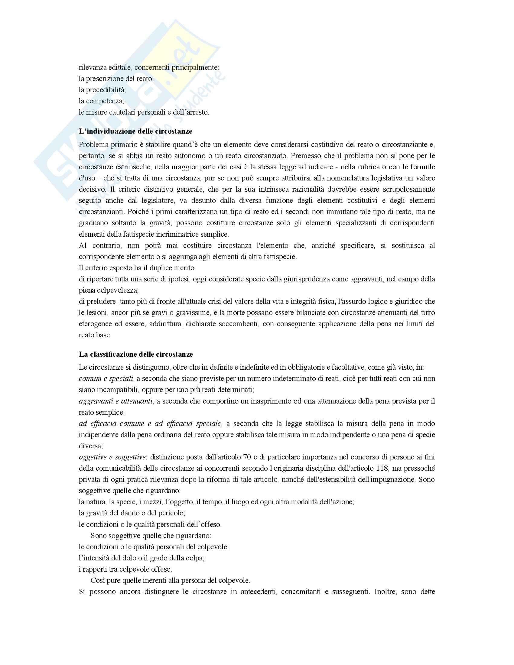 Riassunto esame Diritto penale, prof. Bernardi, libro consigliato Diritto penale, Mantovani (parte generale) Pag. 46