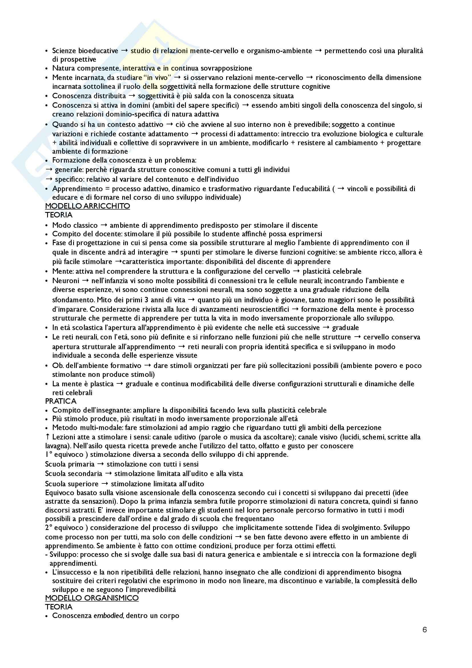 Riassunto esame Pedagogia generale, prof. Kanizsa, libro consigliato Modelli e strumenti di insegnamento, Santoianni Pag. 6