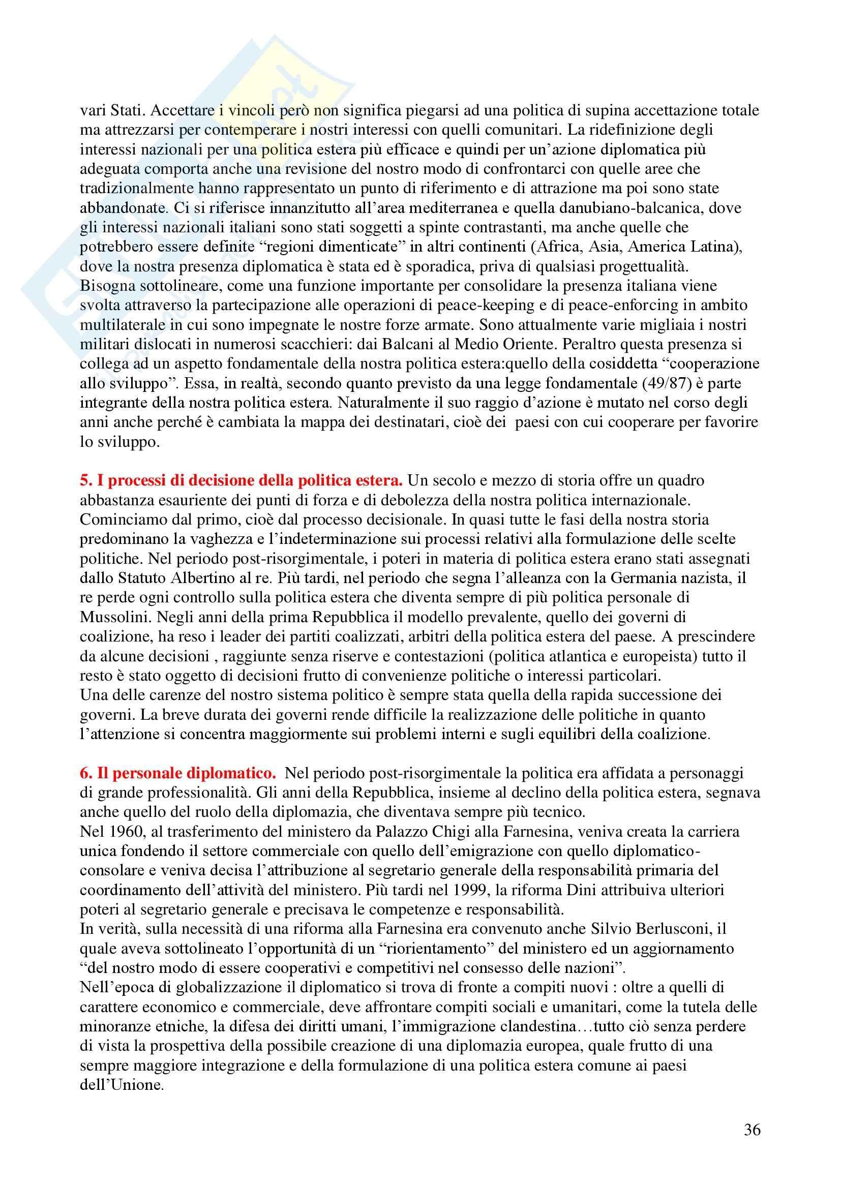 Politica estera dell'Italia Pag. 36