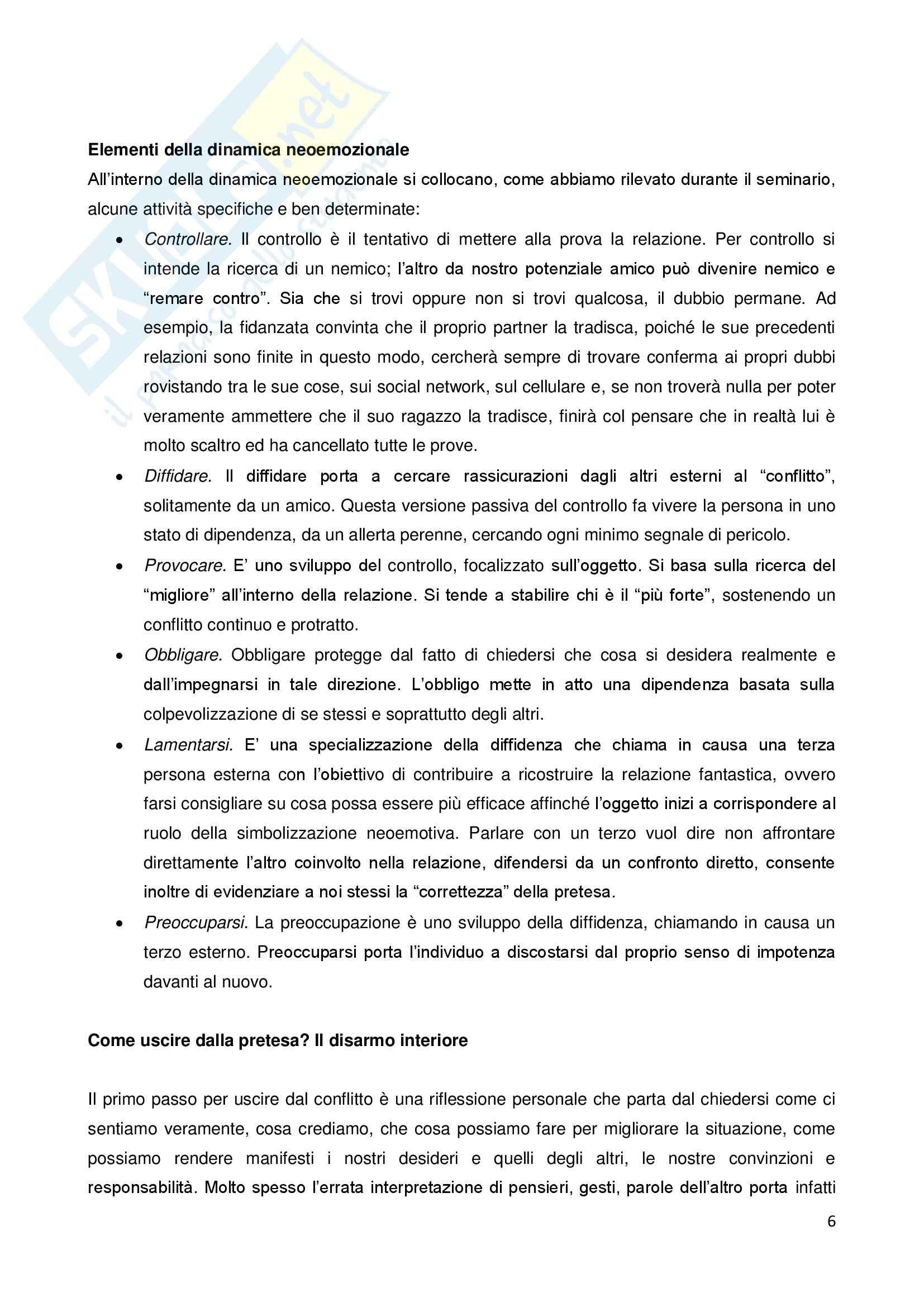 Attività in psicologia clinica e della salute - relazione Pag. 6