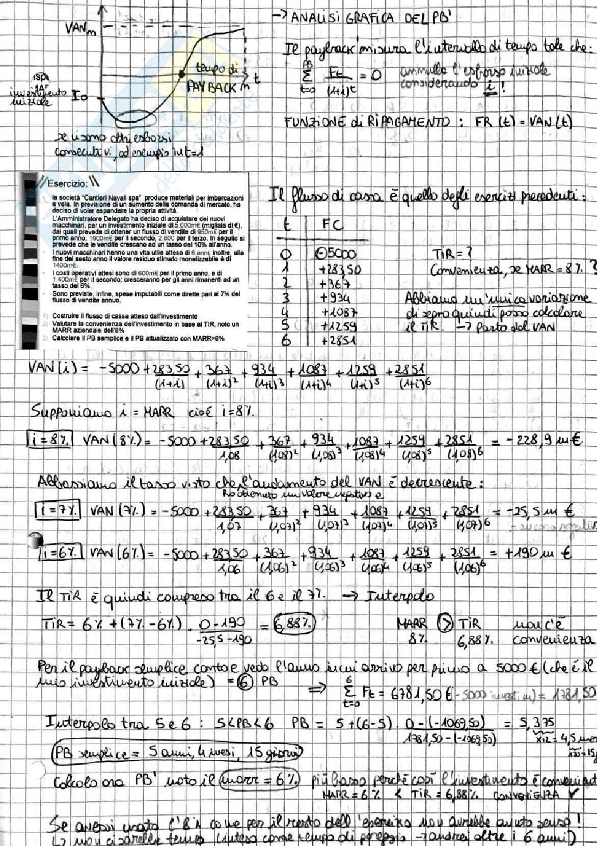 Appunti di Economia Aziendale Applicata - II semestre (Economia Applicata all'Ingegneria) Pag. 21