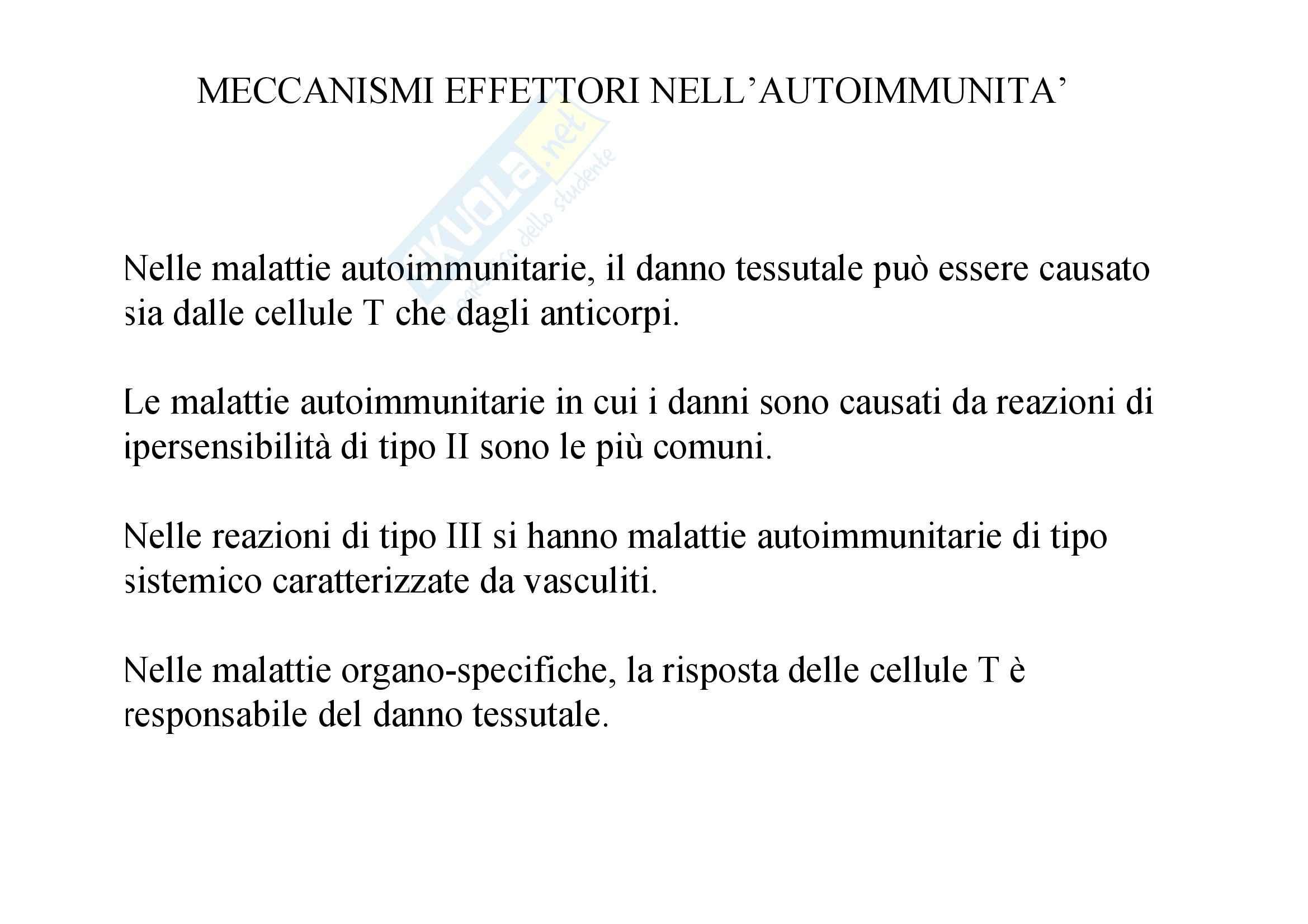 Immunologia - cronicizzazione dell'autoimmunità Pag. 6