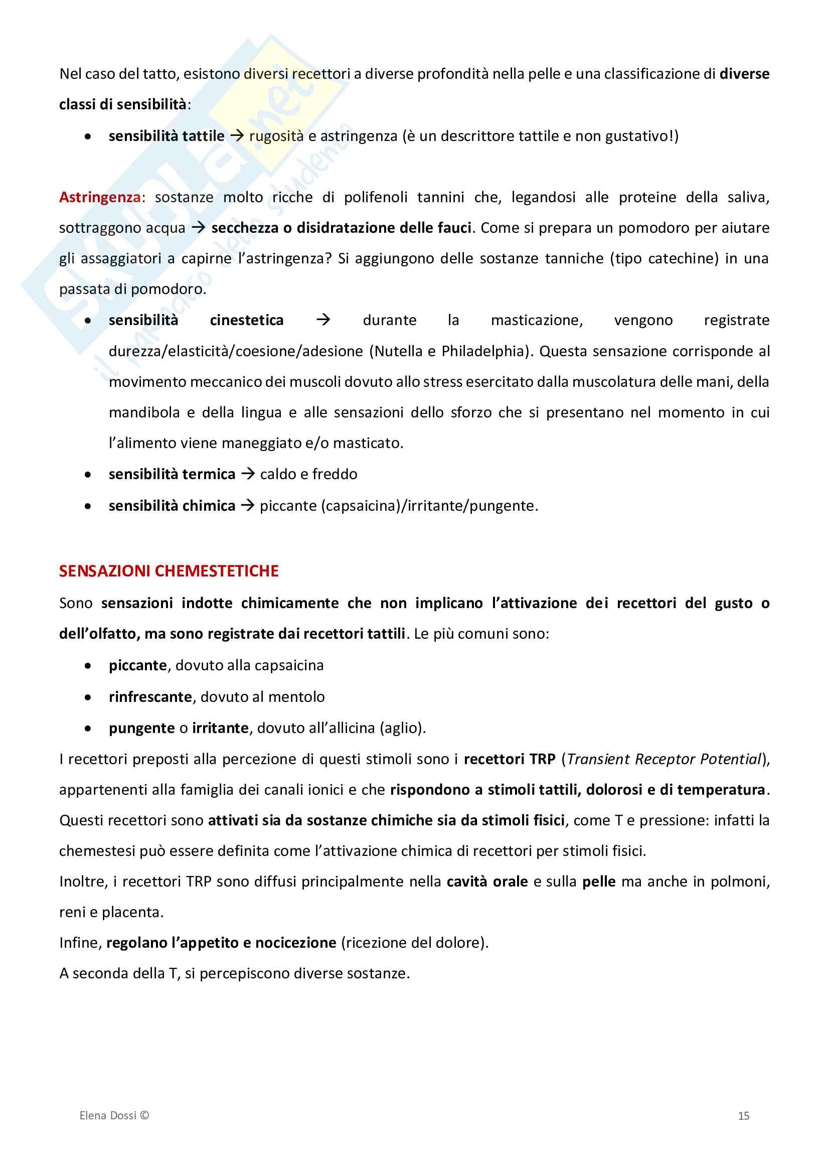 Analisi Sensoriale ed Elaborazione Dati Pag. 16