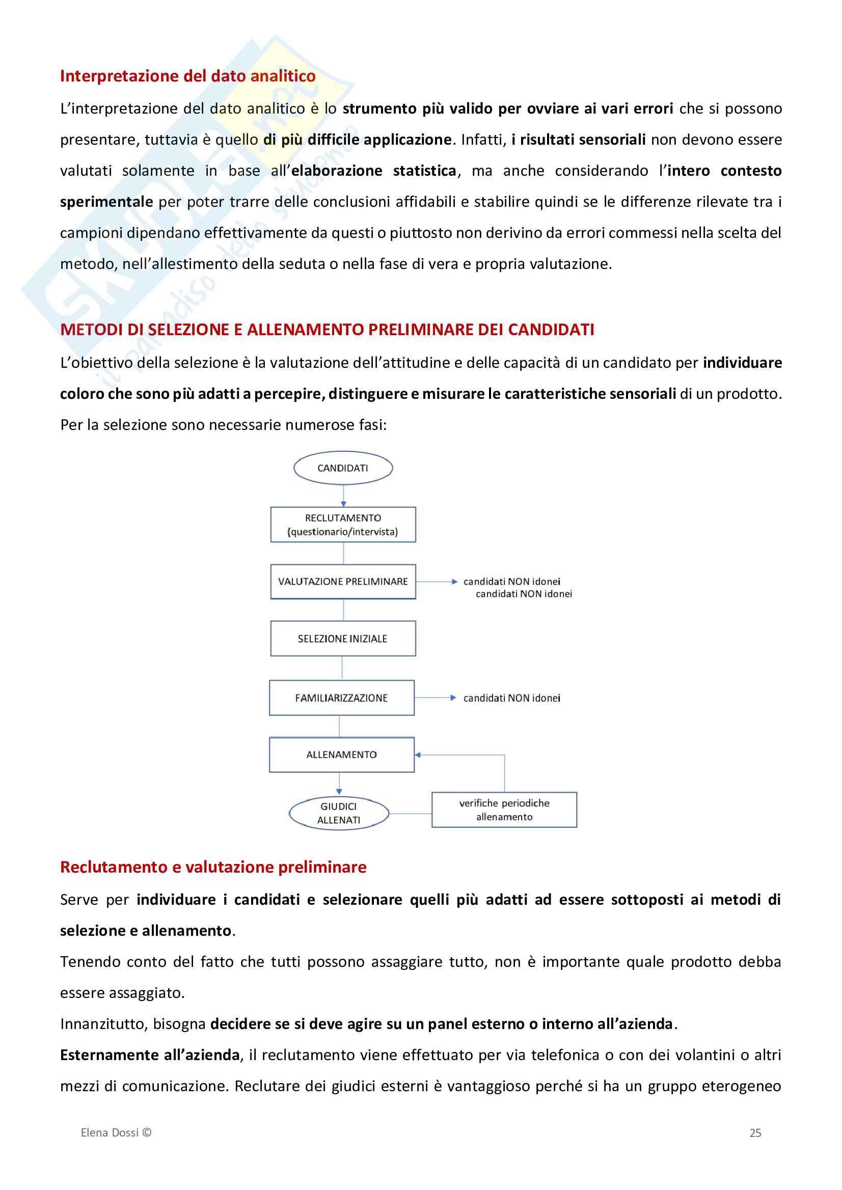 Analisi Sensoriale ed Elaborazione Dati Pag. 26