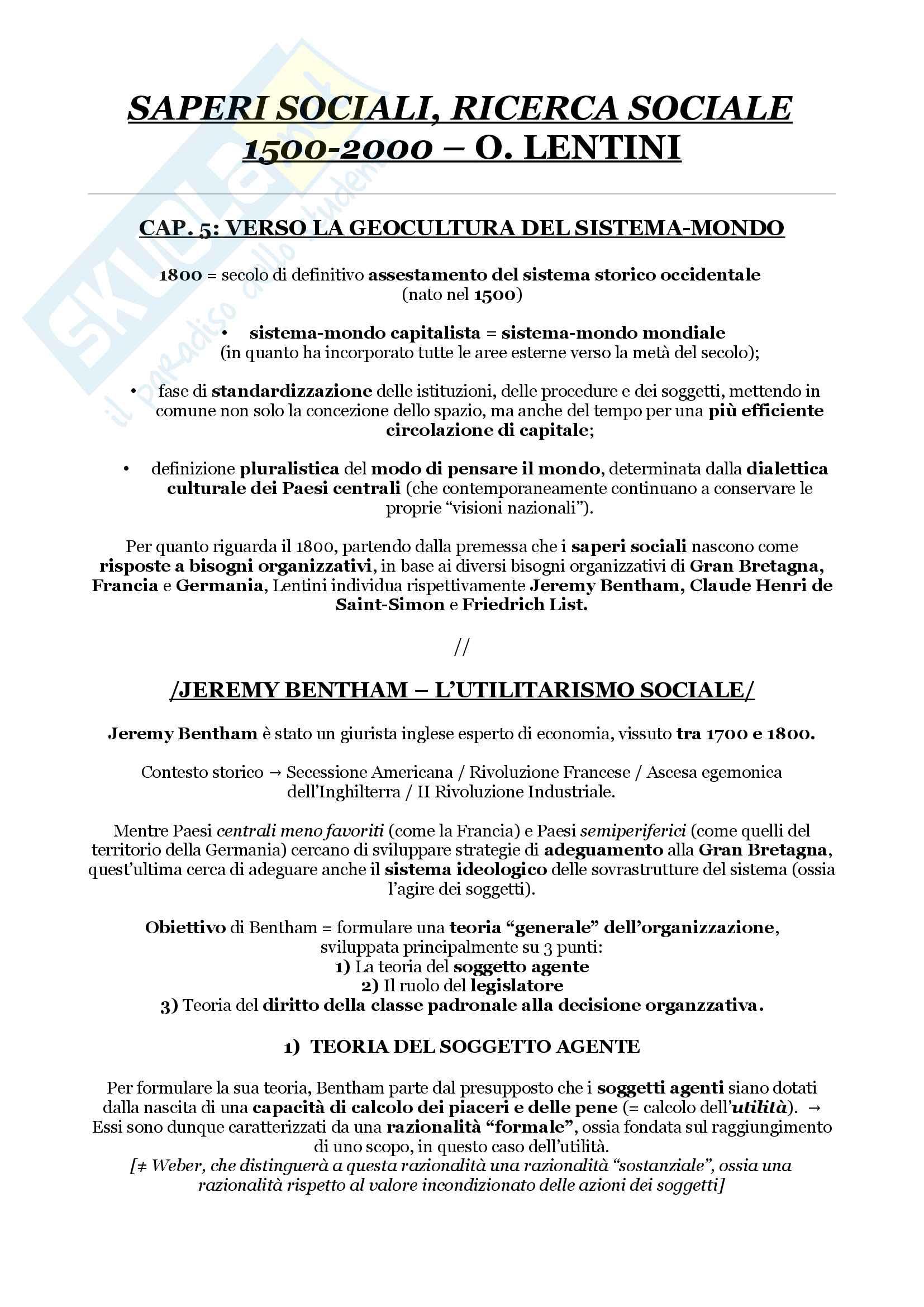 Riassunto 'esame di sociologia, prof. Di Meglio, libro consigliato Saperi Sociali, Ricerca Sociale, Lentini