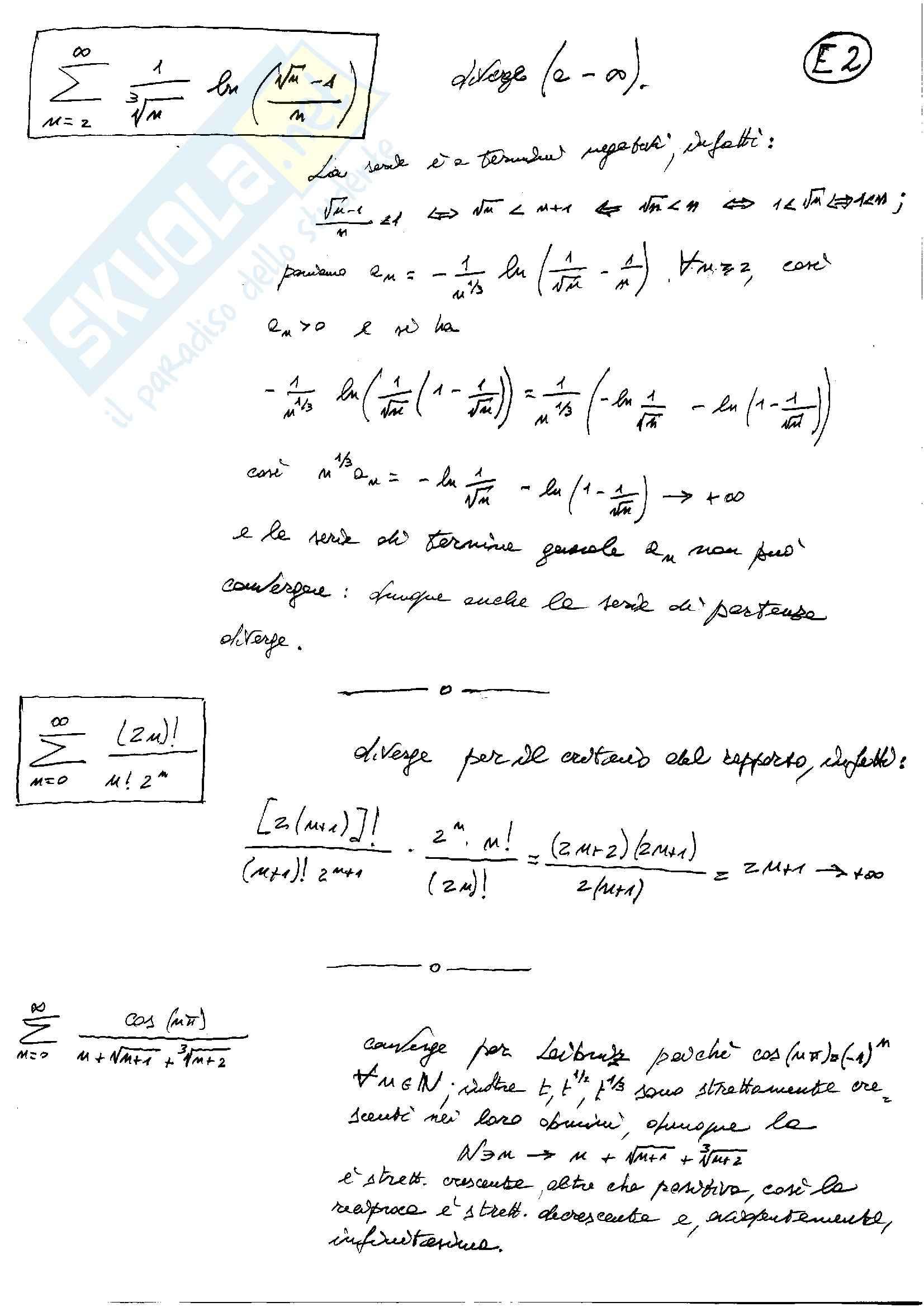Analisi matematica uno - Testi e soluzioni Pag. 16