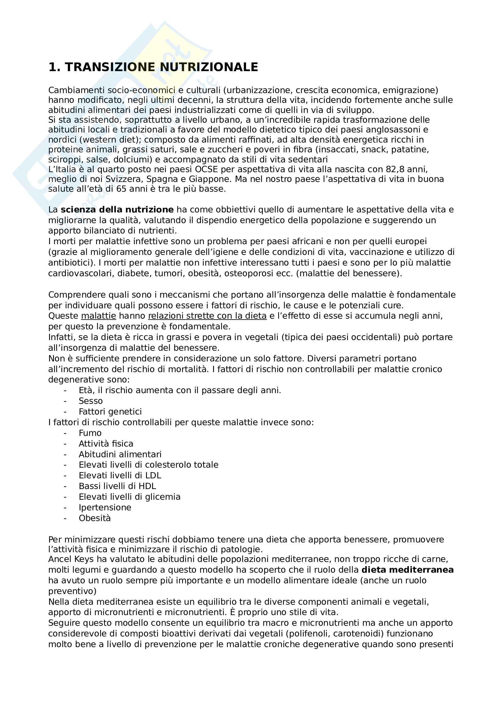 Appunti completi nutrizione delle collettività