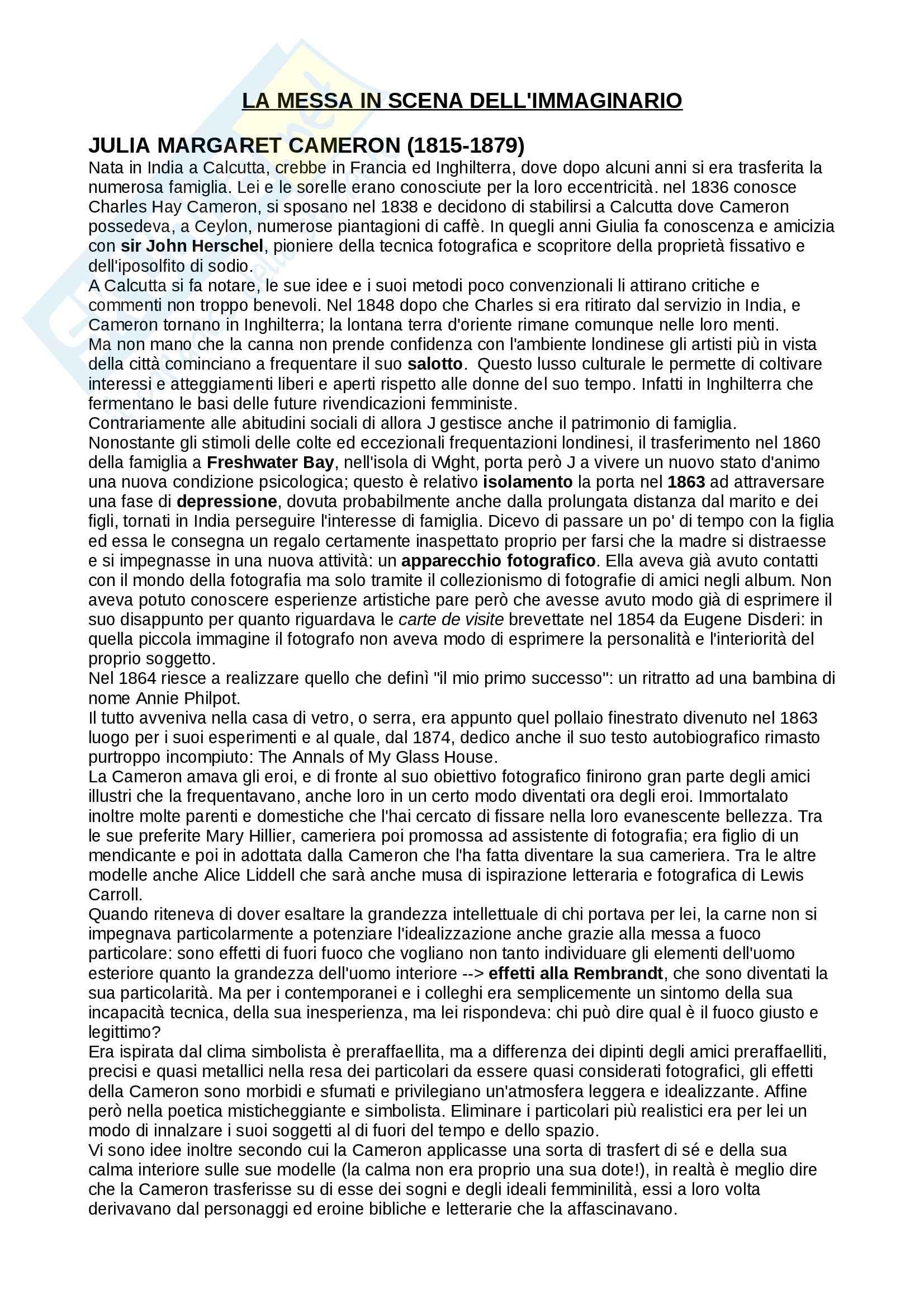 Riassunto per esame di fotografia, prof.ssa Muzzarelli, libro consigliato Il corpo e l'azione, Muzzarelli
