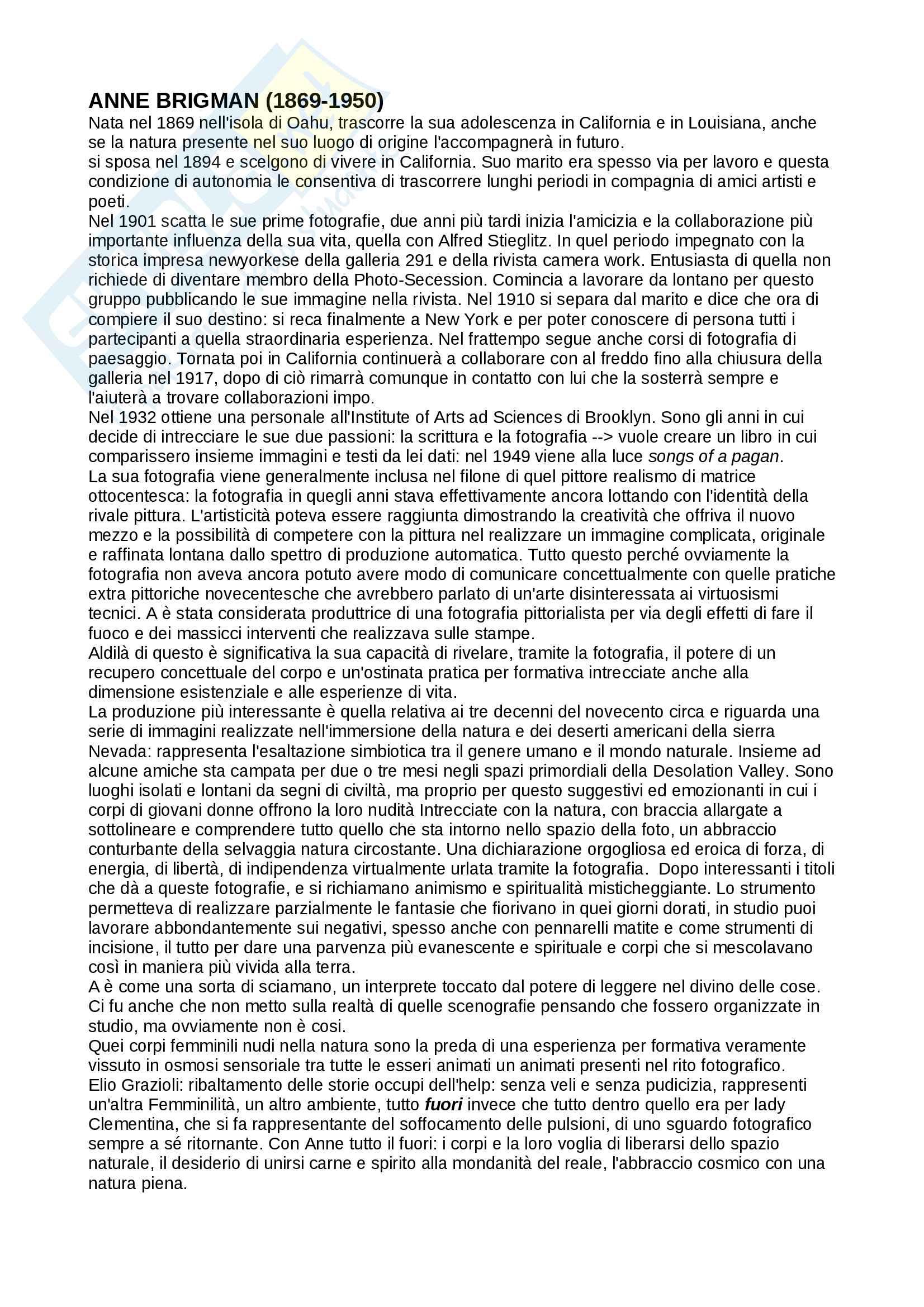 Riassunto per esame di fotografia, prof.ssa Muzzarelli, libro consigliato Il corpo e l'azione, Muzzarelli Pag. 16