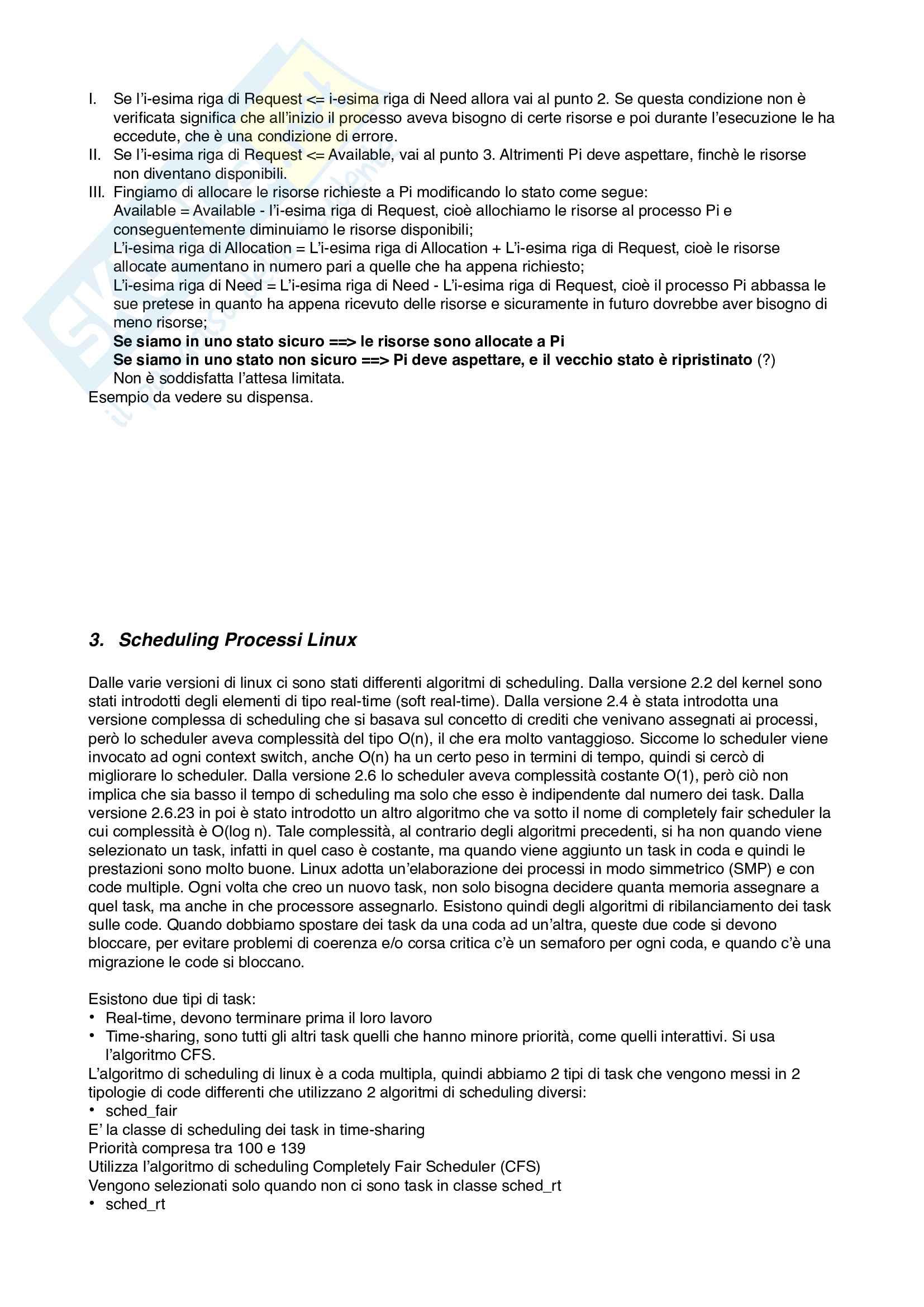 riassunto sistemi operativi Pag. 6
