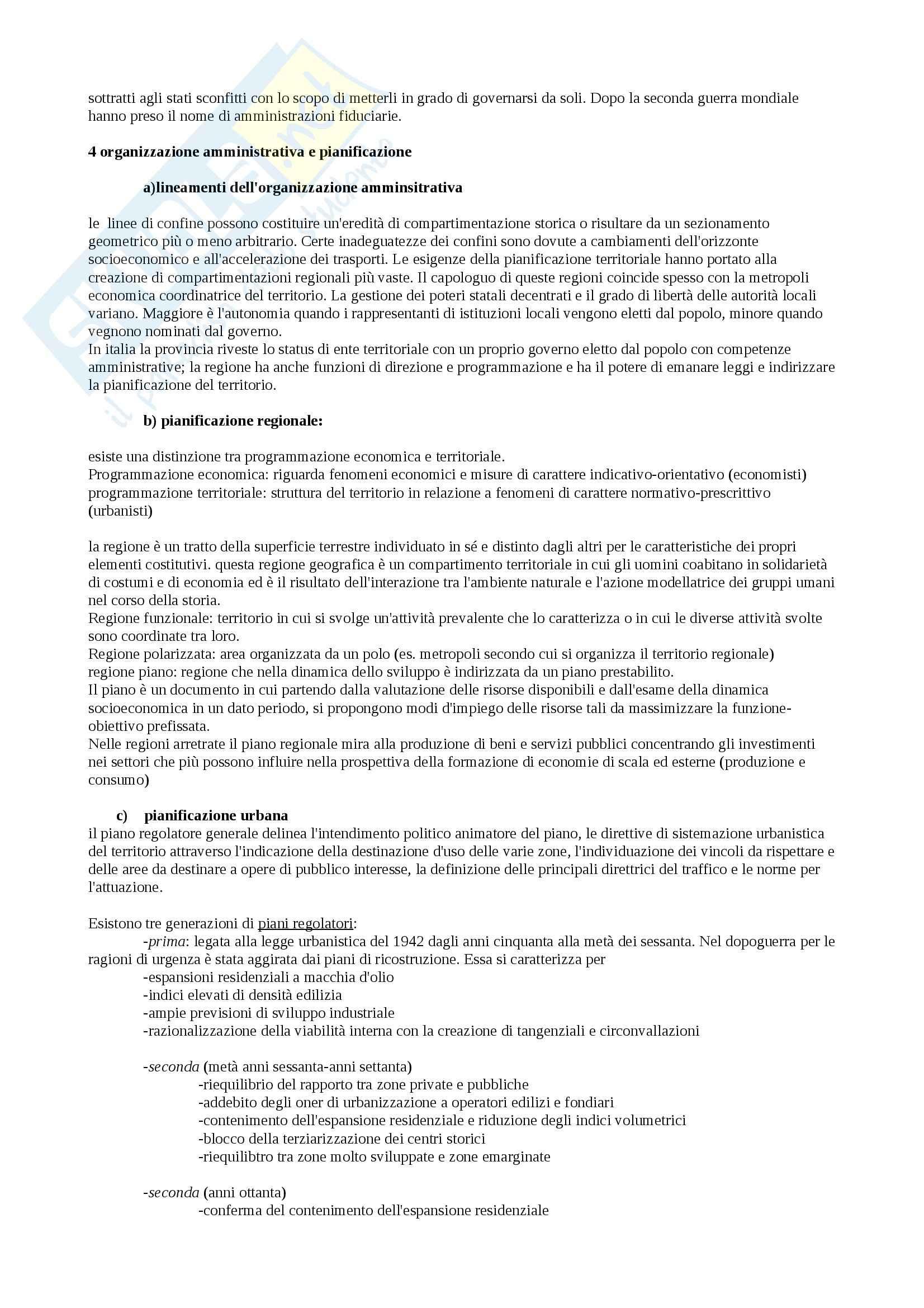 Riassunto esame Geografia, prof. Federzoni, libro consigliato Compendio di Geografia Umana, Dagradi, Cencini Pag. 41