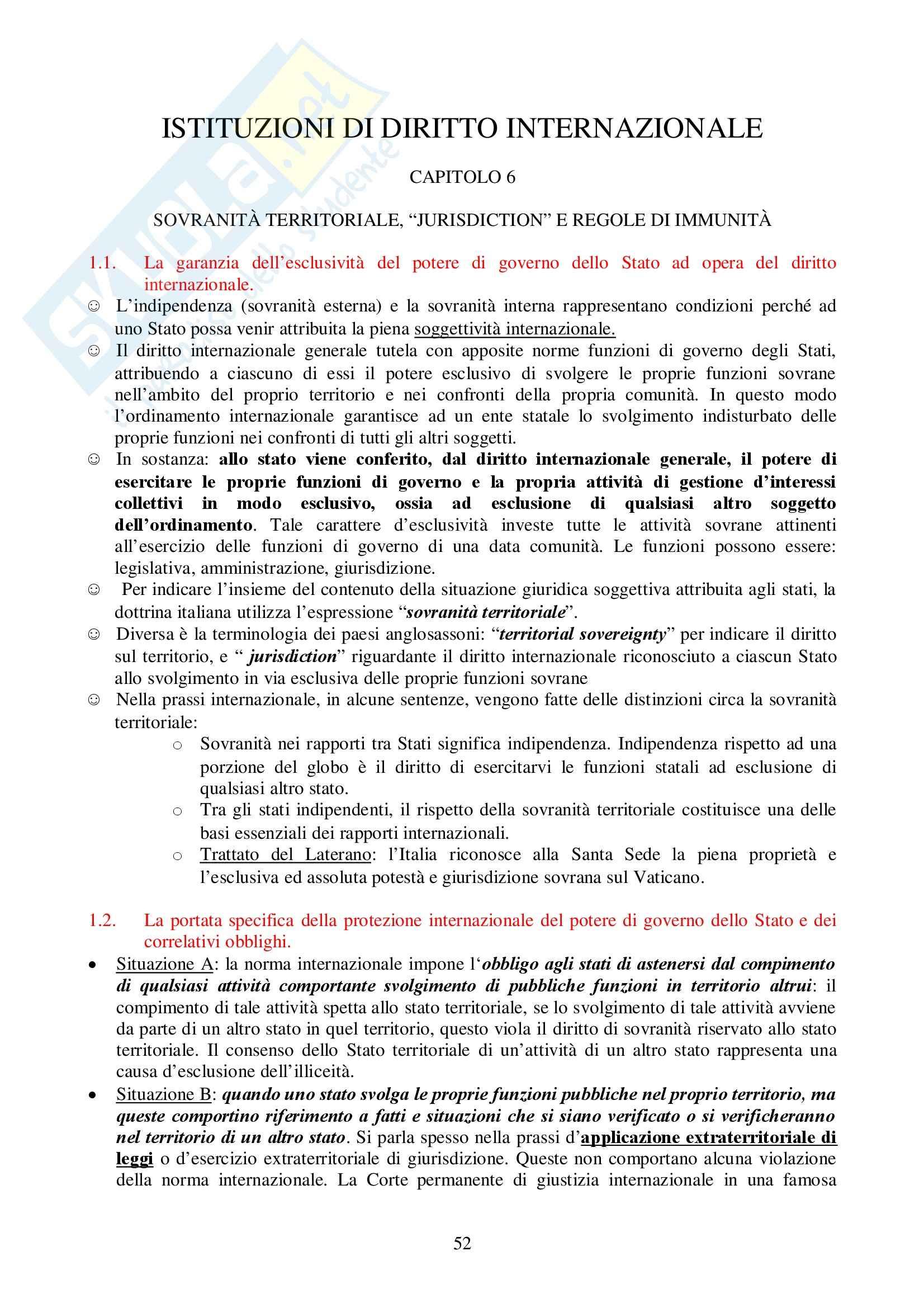 Diritto internazionale - Carbone - Appunti