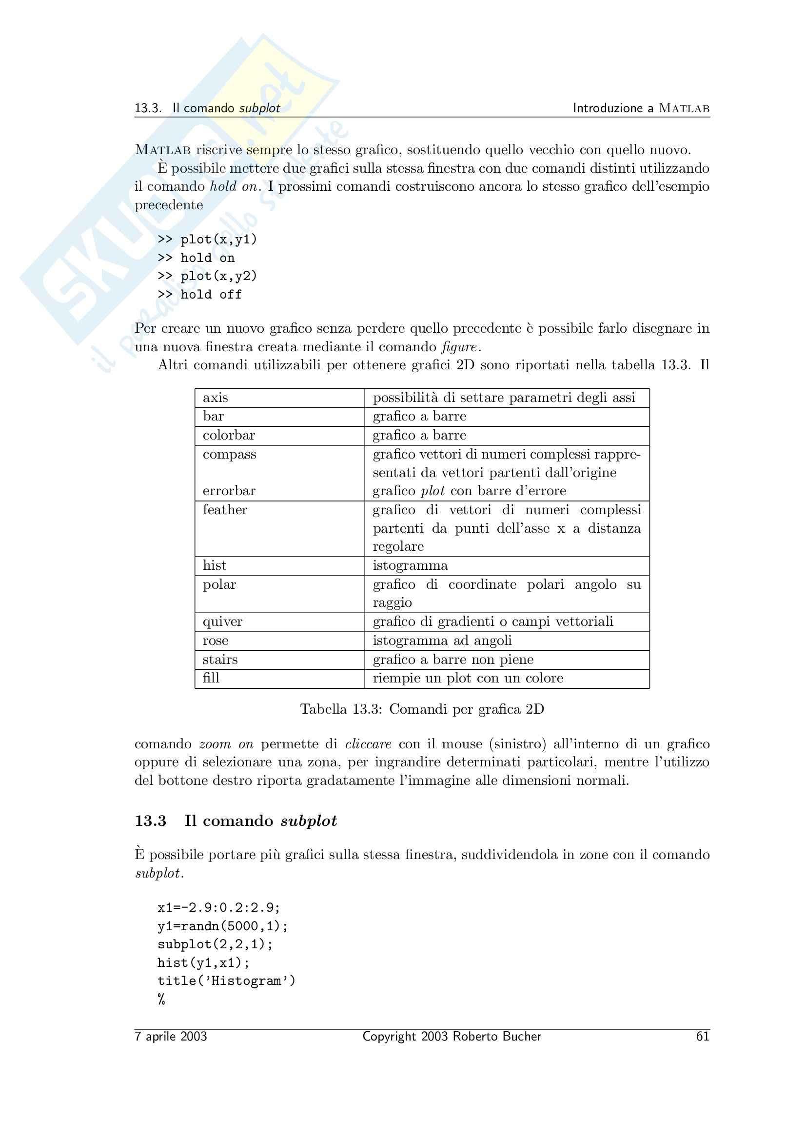 Calcolo numerico - il calcolo scientifico Pag. 61