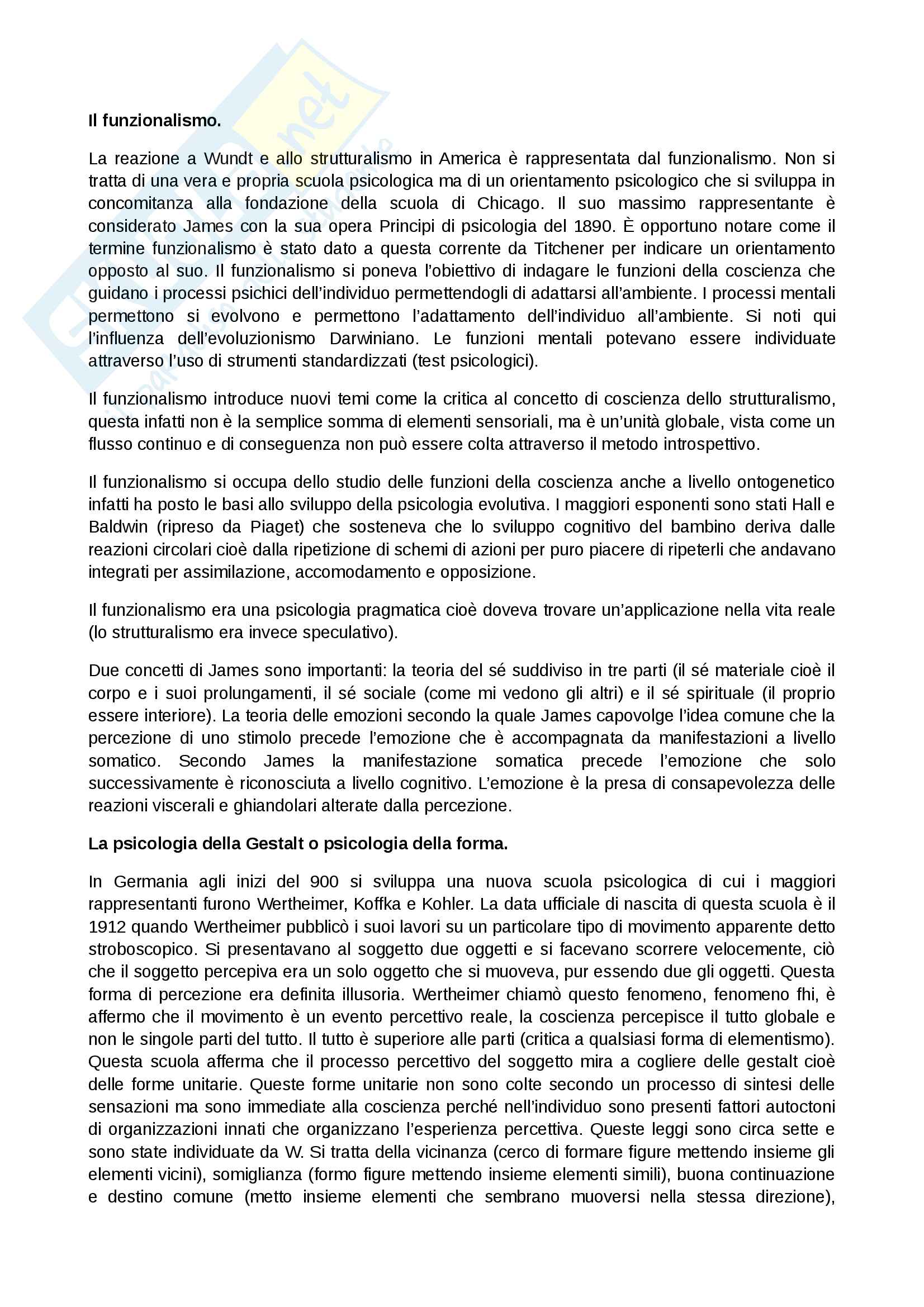 Riassunto origini e storia psicologia Pag. 11