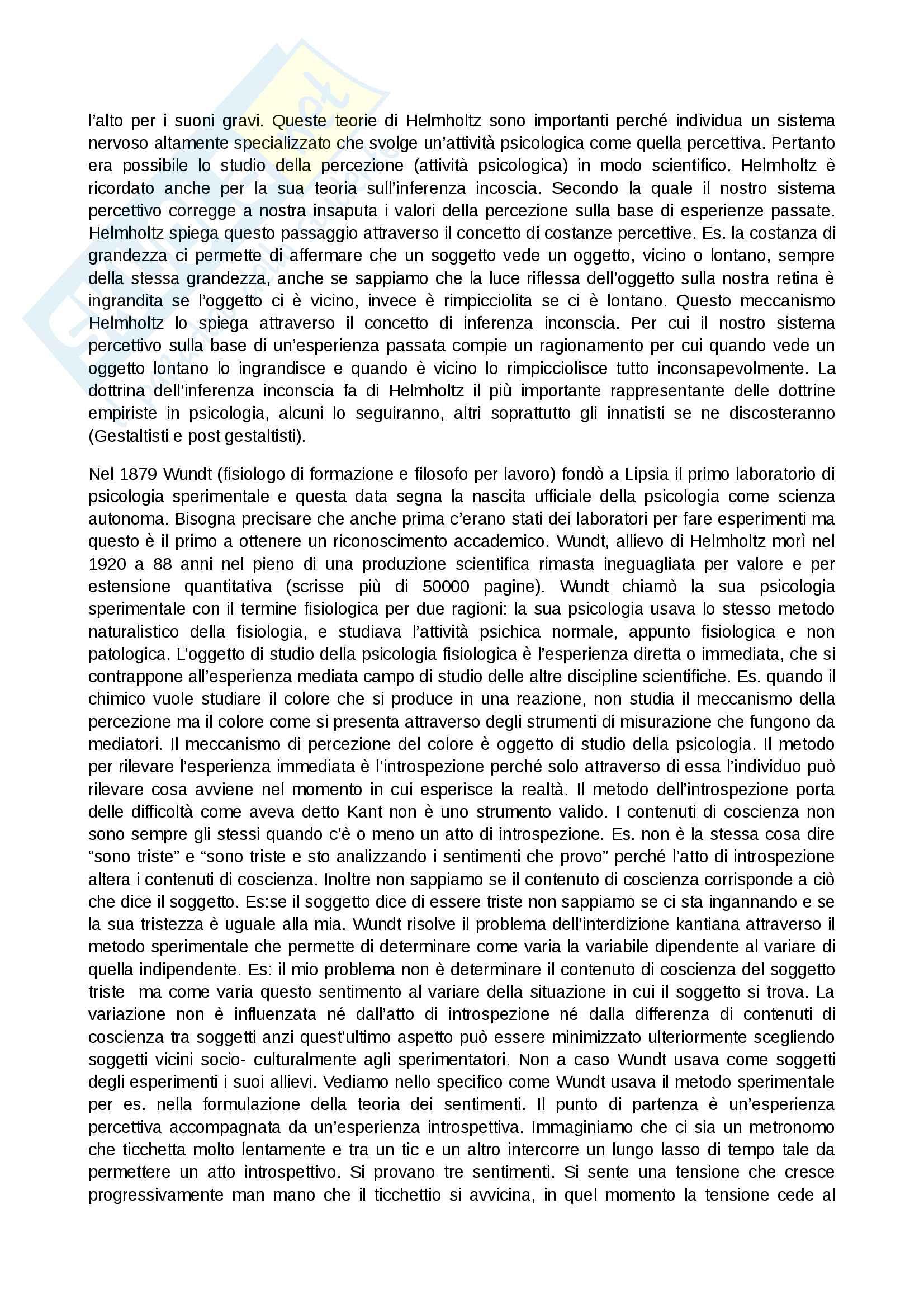 Riassunto origini e storia psicologia Pag. 6