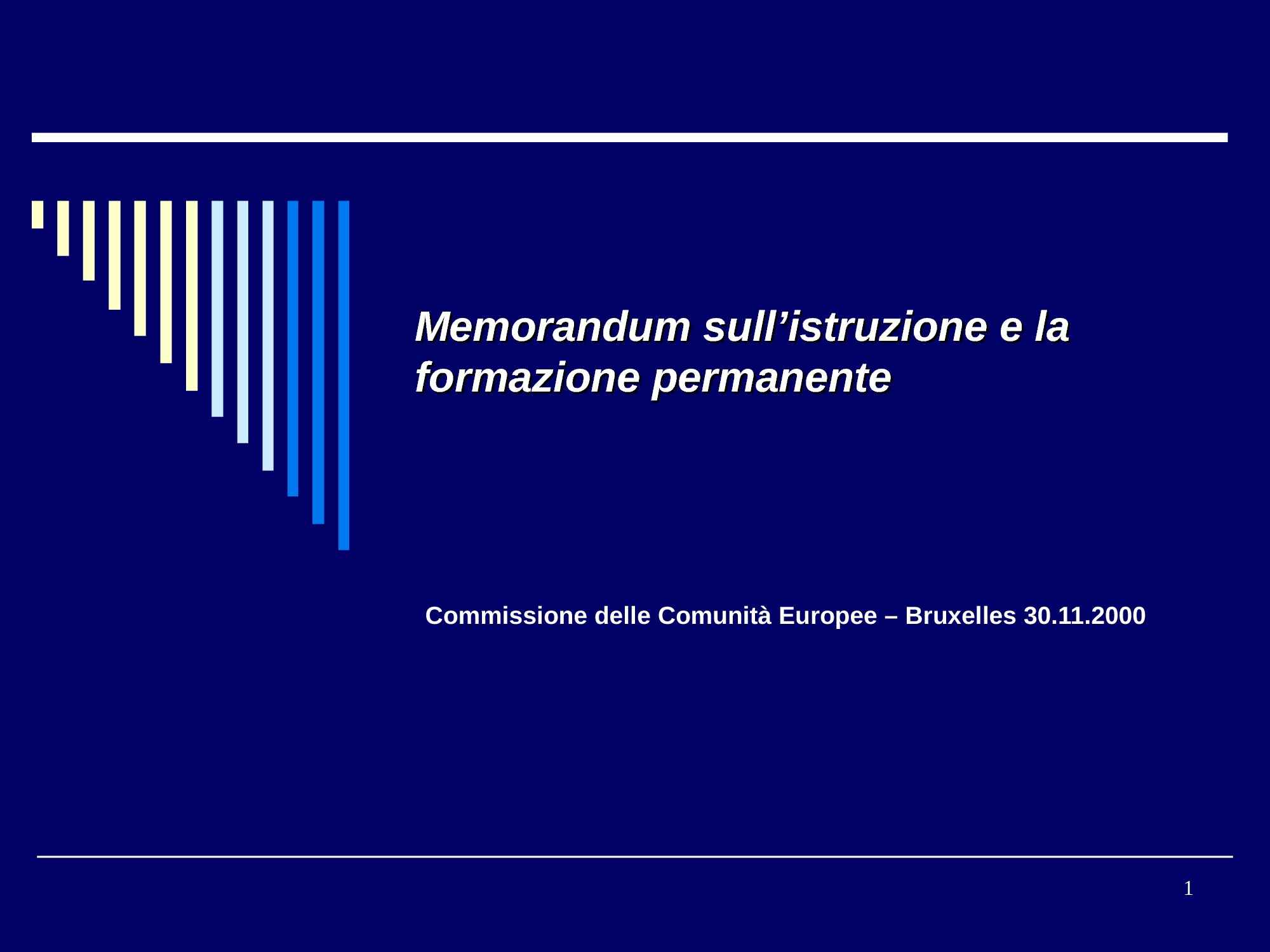 Formazione permanente - Memorandum