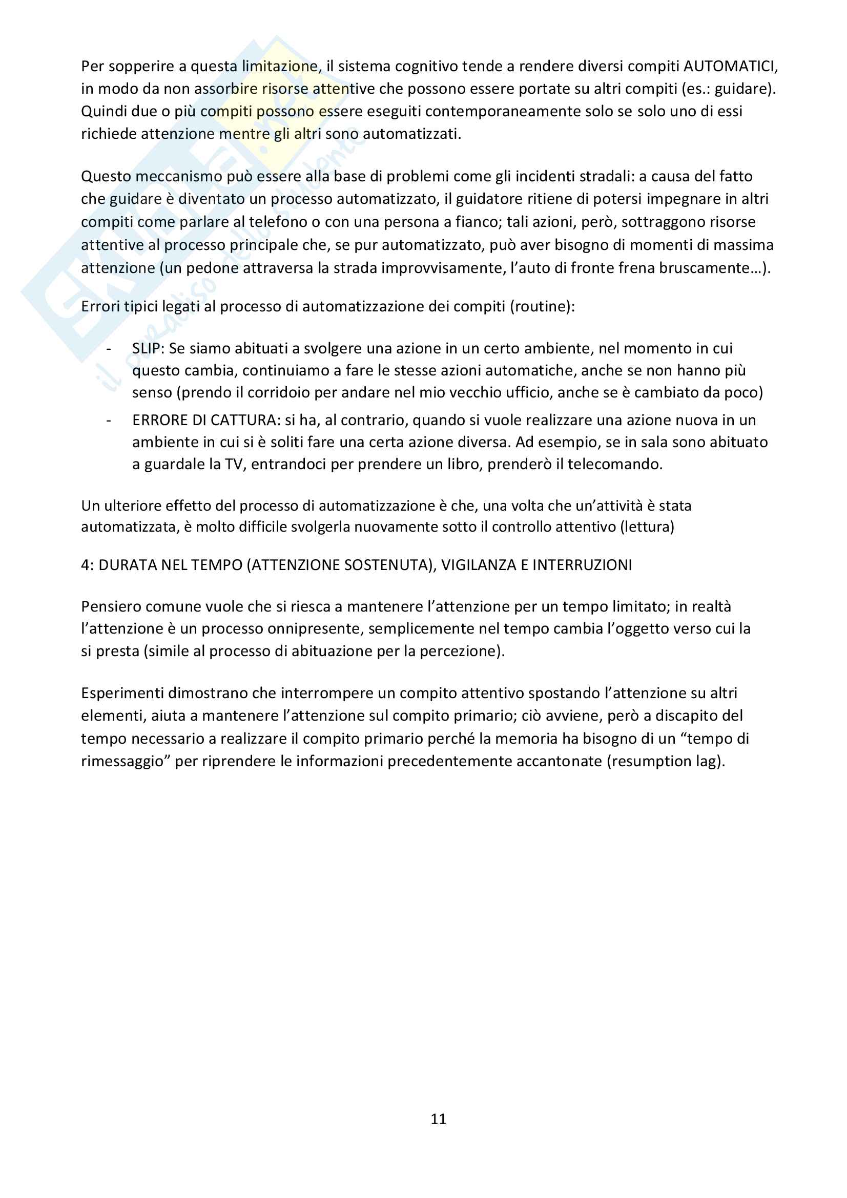 Psicologia dei processi cognitivi Pag. 11