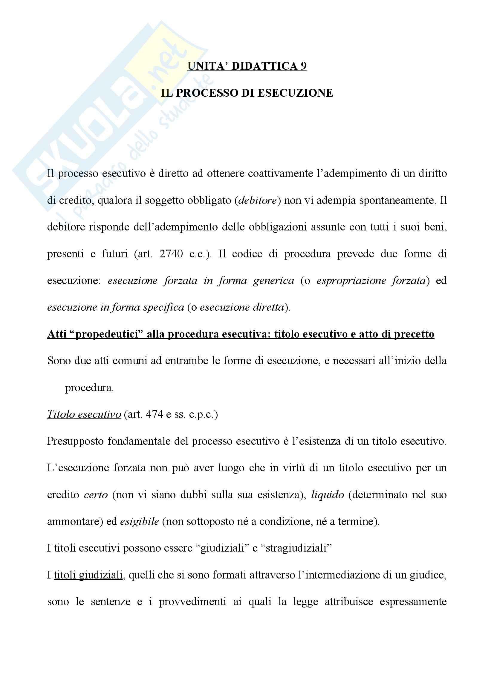 Diritto processuale prima parte - Balena