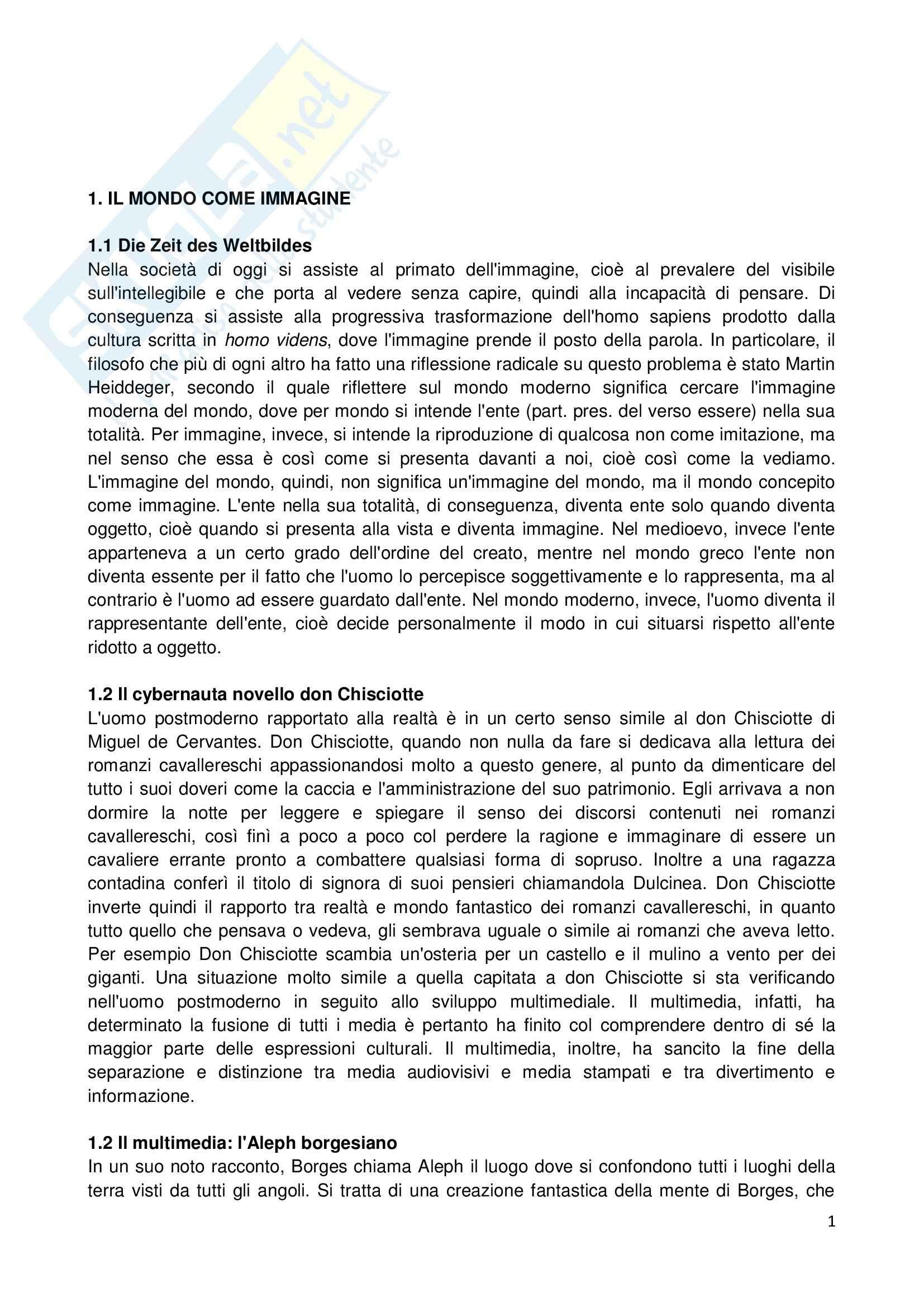 Riassunto esame Etica della Comunicazione, prof. Bellino, libro consigliato Per un'Etica della Comunicazione