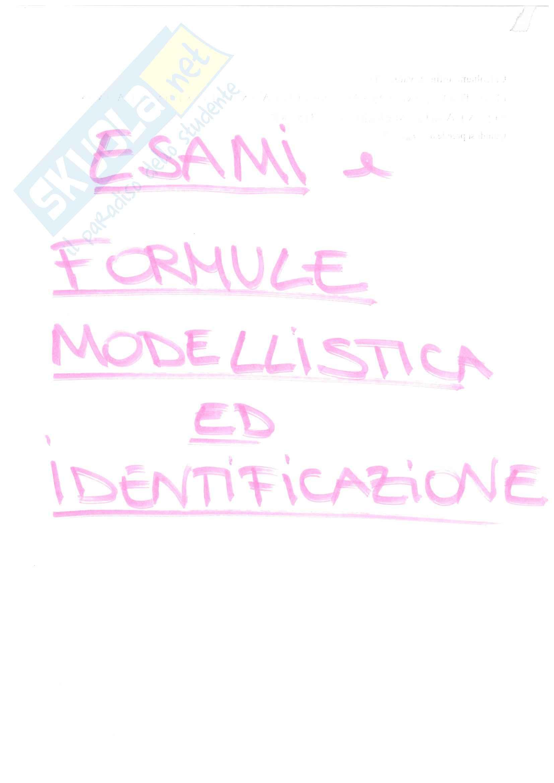 Esami modellistica ed identificazione