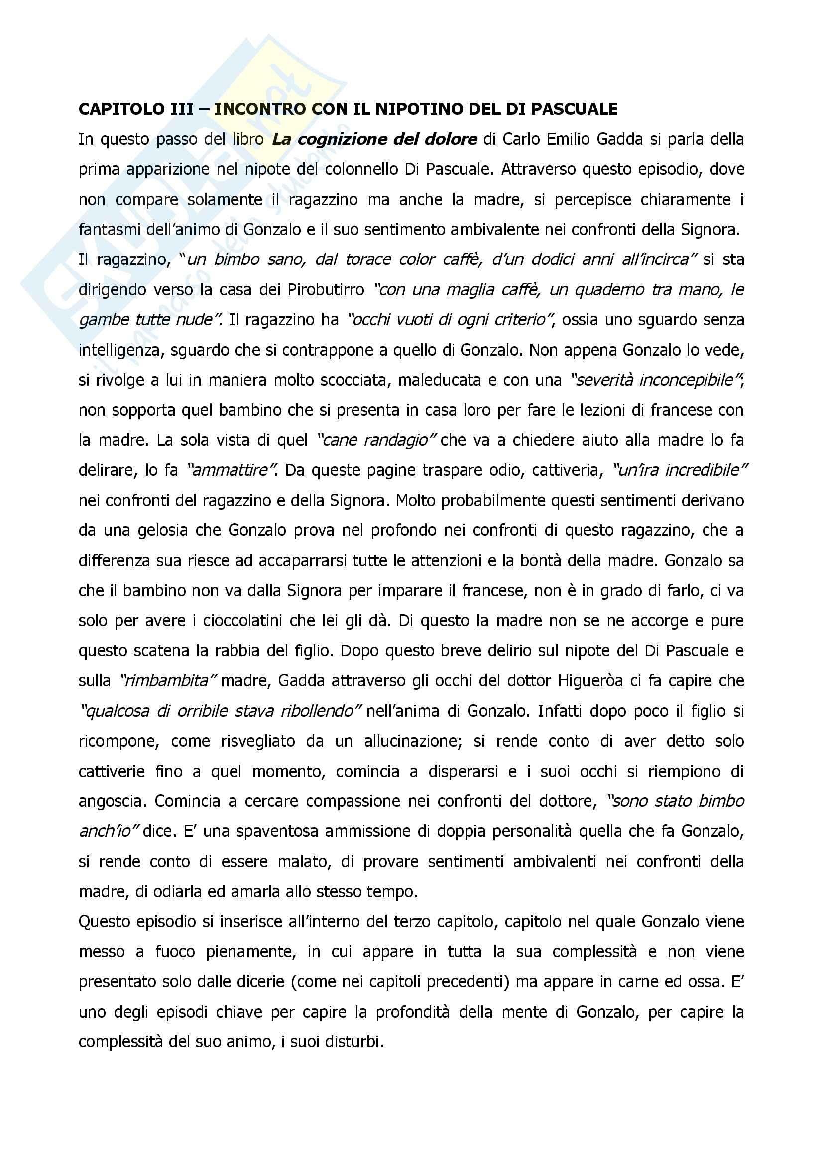 Gadda, Carlo Emilio - La cognizione del dolore, recensione terzo capitolo