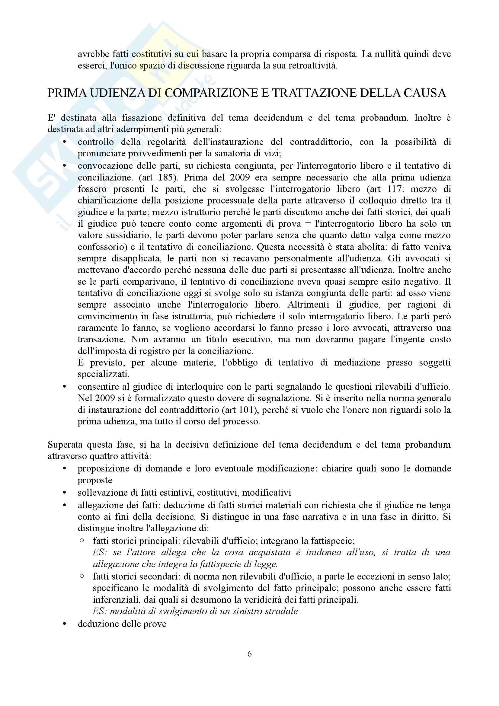 Diritto processuale civile - Appunti (parte 2) Pag. 6