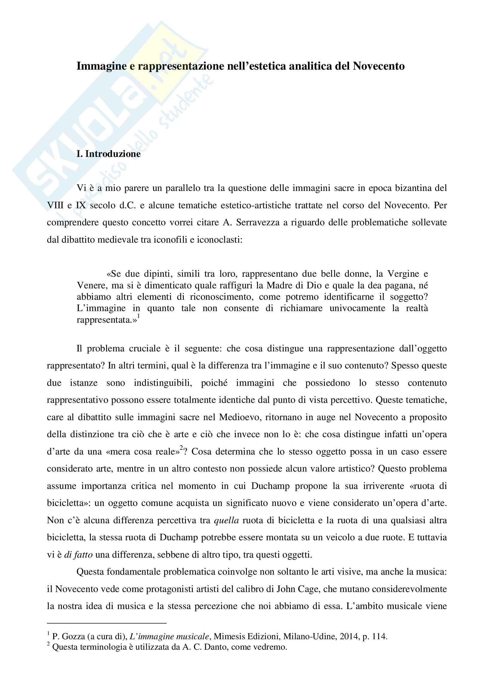 Elaborato di Filosofia della Musica, prof. Gozza, libro consigliato L'immagine musicale, Gozza
