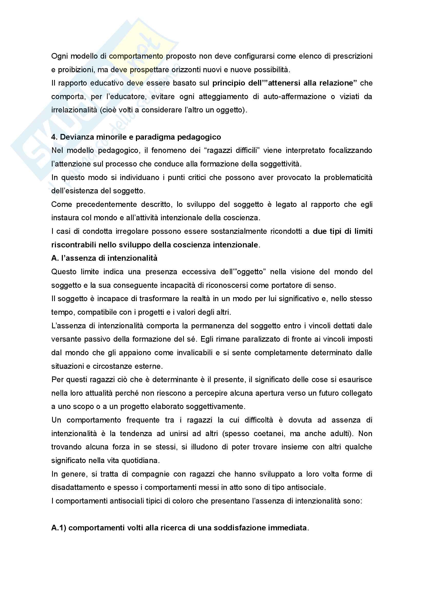 Riassunto esame Didattica e Pedagogia dell'inclusione con laboratorio, prof.ssa Palmieri, libro consigliato Ragazzi difficili. Pedagogie interpretative e metodologie di intervento Pag. 16