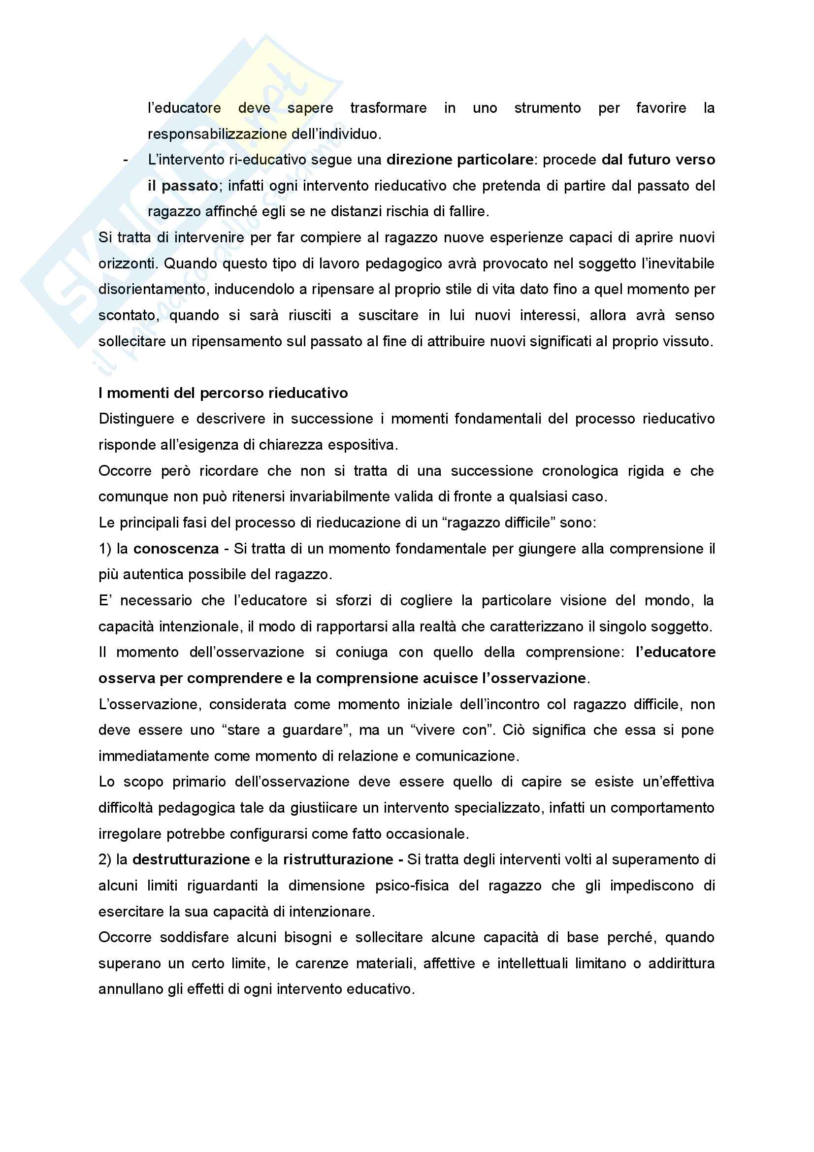 Riassunto esame Didattica e Pedagogia dell'inclusione con laboratorio, prof.ssa Palmieri, libro consigliato Ragazzi difficili. Pedagogie interpretative e metodologie di intervento Pag. 21