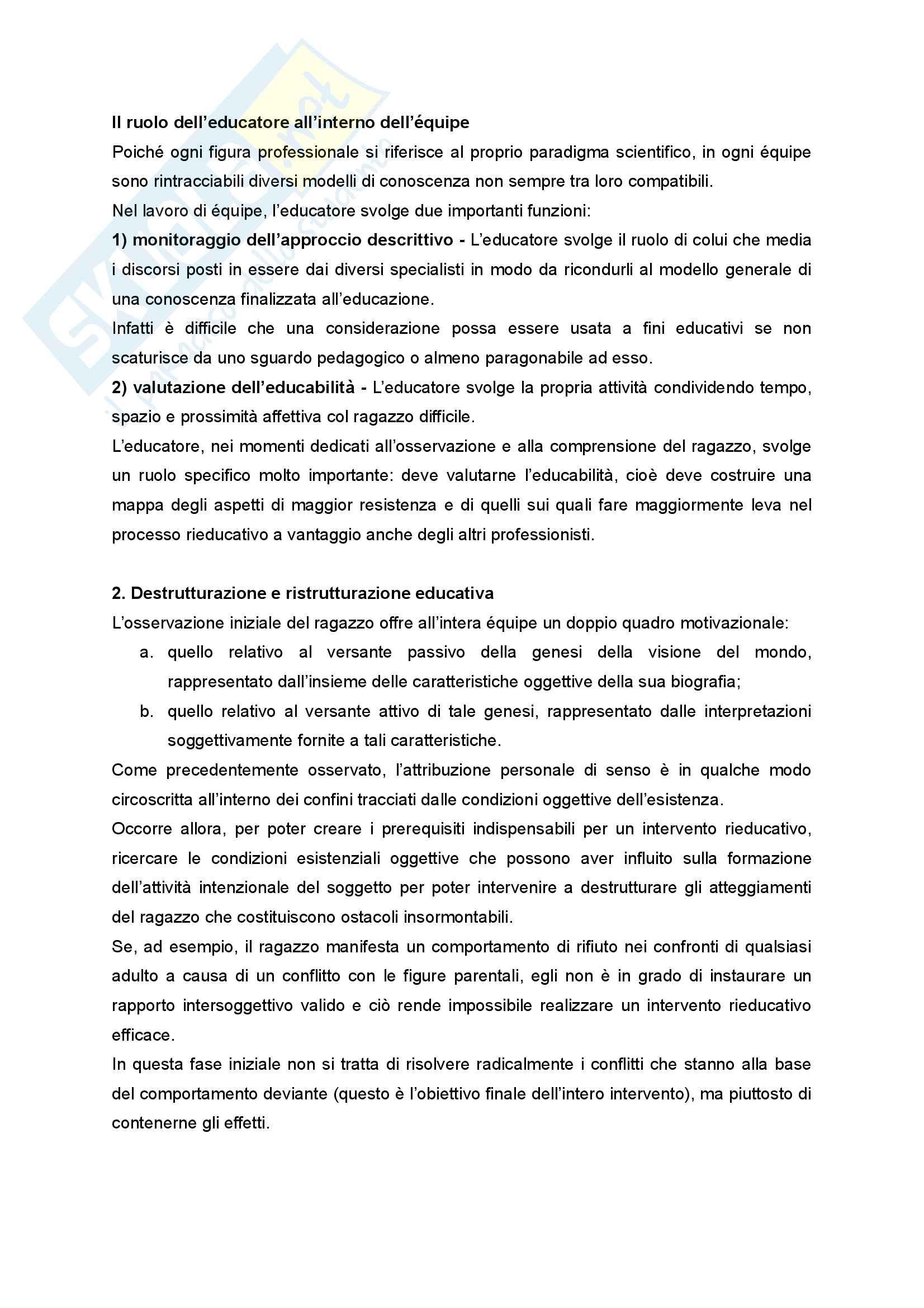 Riassunto esame Didattica e Pedagogia dell'inclusione con laboratorio, prof.ssa Palmieri, libro consigliato Ragazzi difficili. Pedagogie interpretative e metodologie di intervento Pag. 26