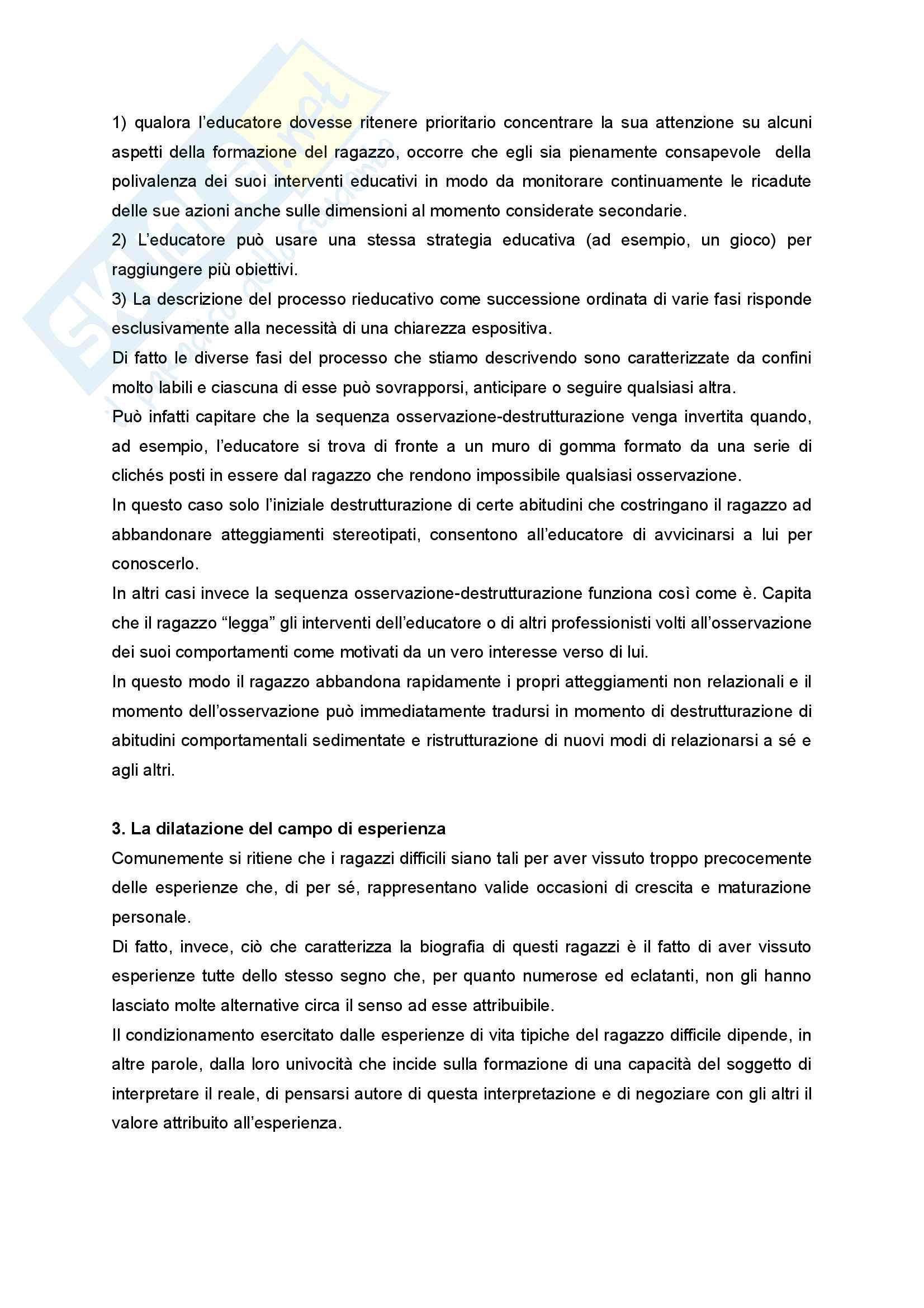 Riassunto esame Didattica e Pedagogia dell'inclusione con laboratorio, prof.ssa Palmieri, libro consigliato Ragazzi difficili. Pedagogie interpretative e metodologie di intervento Pag. 31