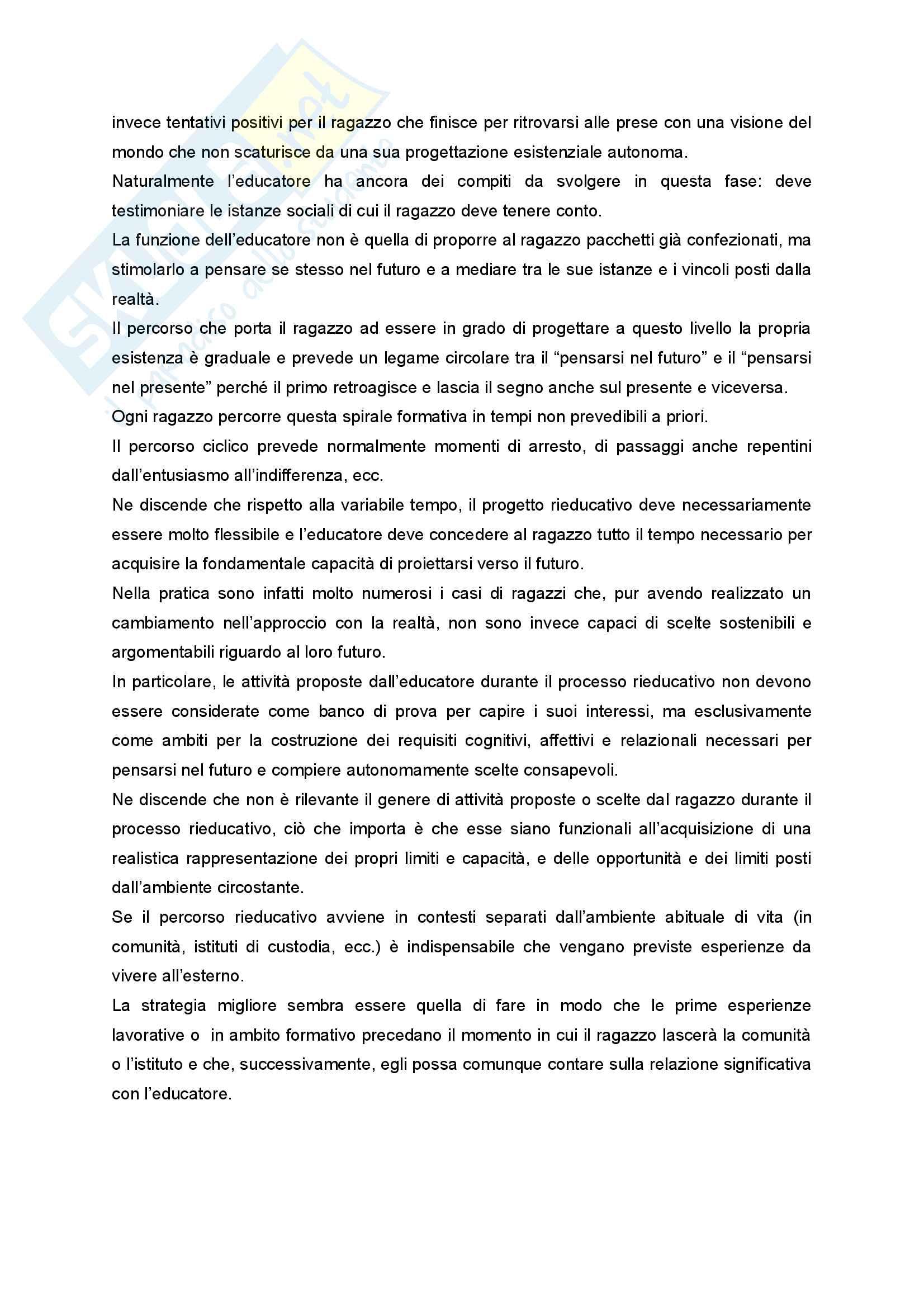 Riassunto esame Didattica e Pedagogia dell'inclusione con laboratorio, prof.ssa Palmieri, libro consigliato Ragazzi difficili. Pedagogie interpretative e metodologie di intervento Pag. 51