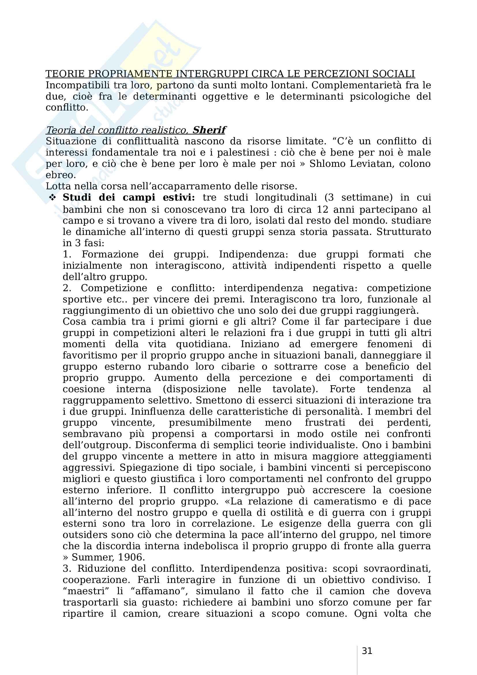 Psicologia Sociale - Parte 2 (prof Castelli) Pag. 31