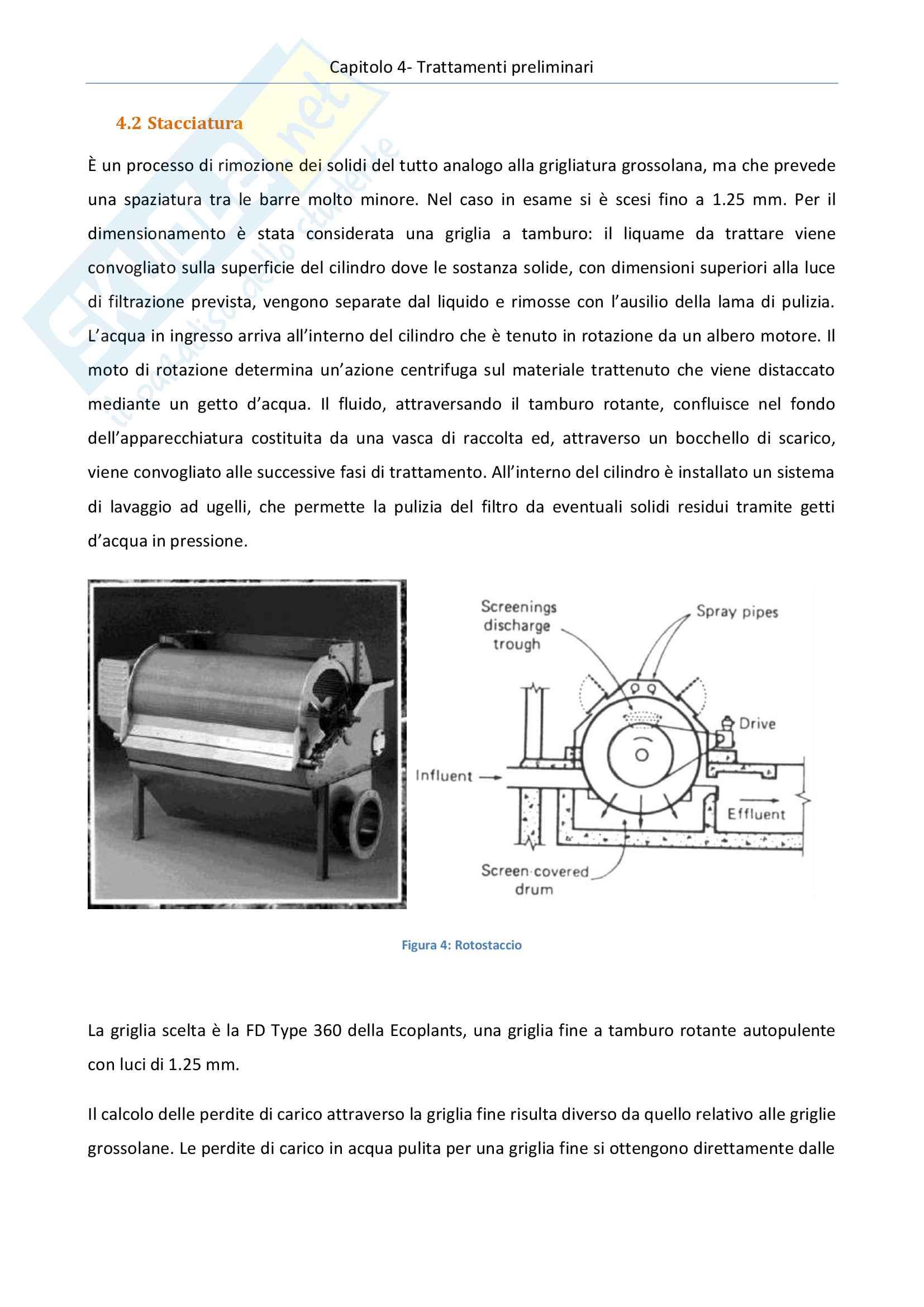 Impianti di trattamento acque e rifiuti - progetto di un impianto di depurazione di acque reflue urbane Pag. 26