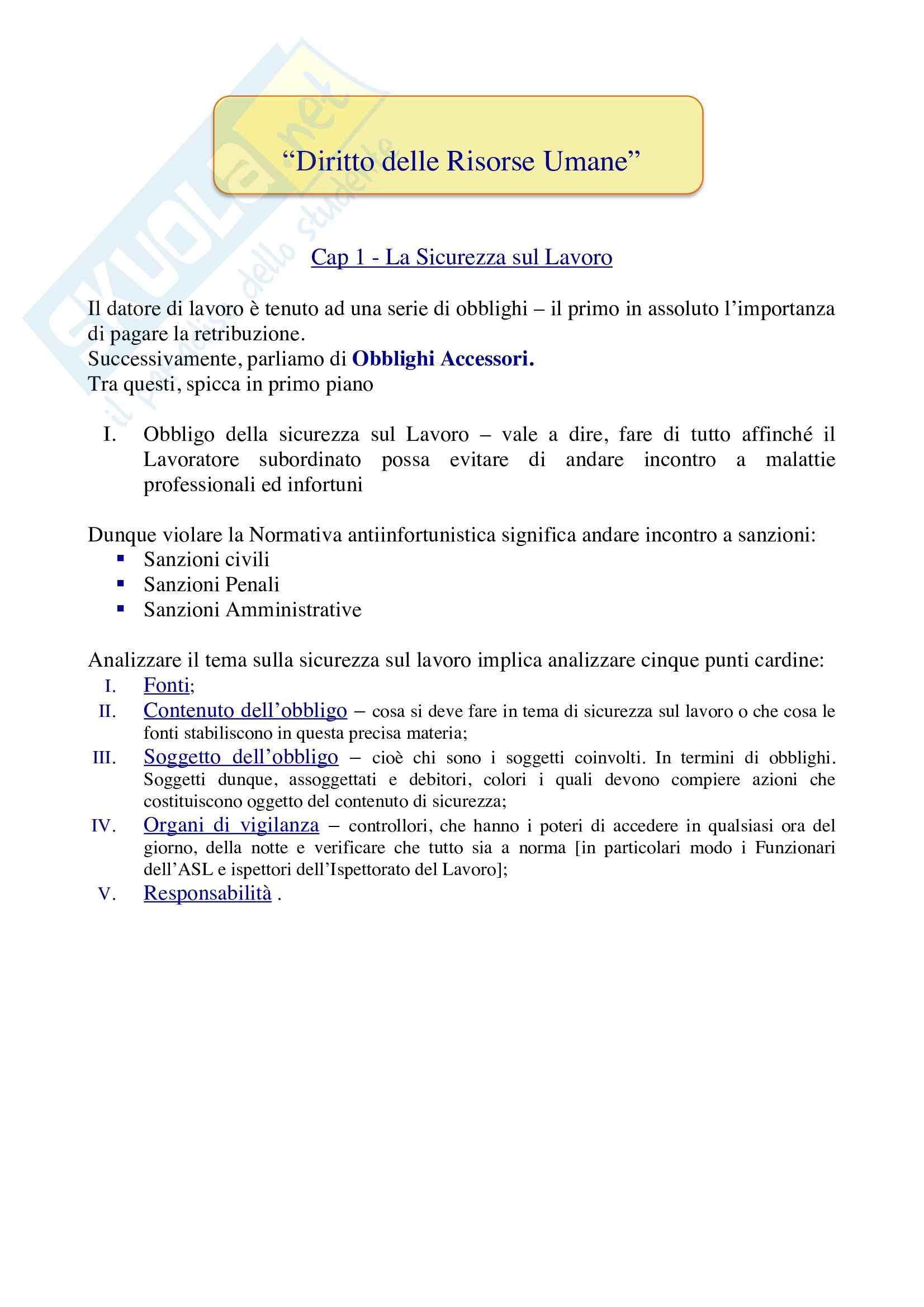 Appunti di diritto delle risorse umane