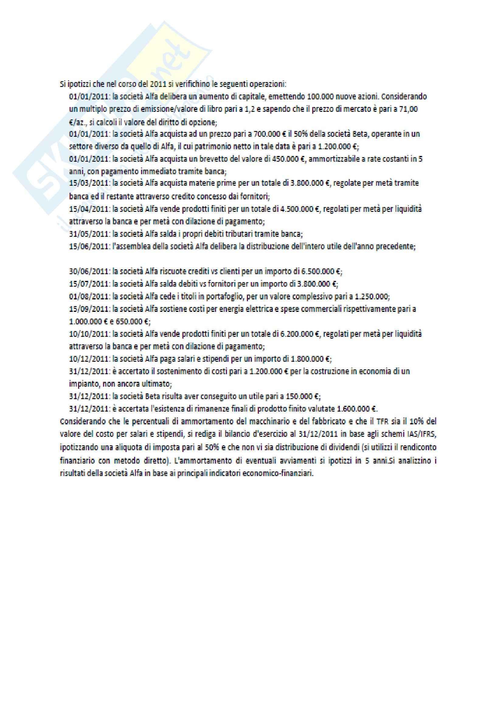 Esercitazione, Gestione aziendale I Pag. 16